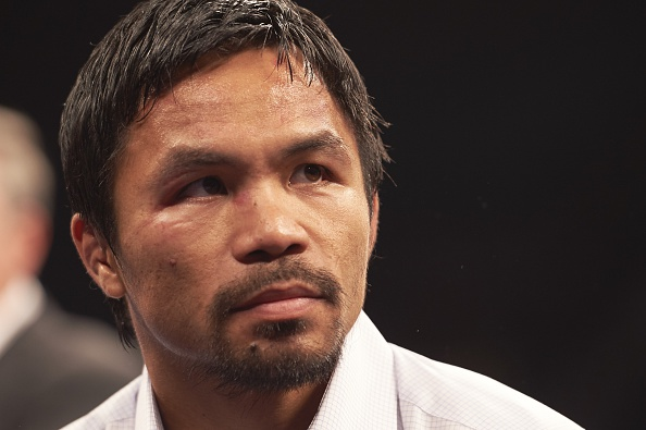 Manny Pacquiao during press conference after the title unification fight vs Floyd Mayweather in Las Vegas on May 2, 2015.