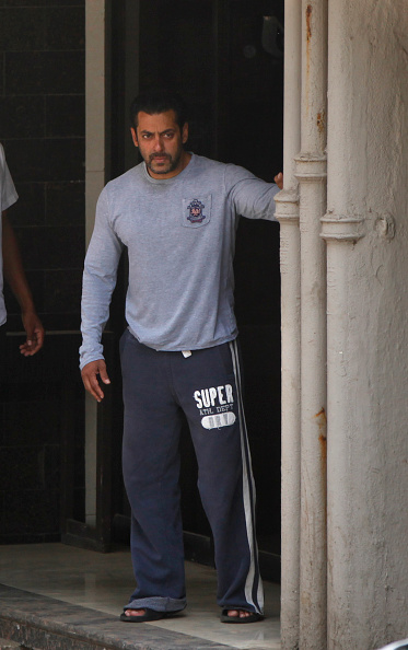 Salman Khan at his residence in Mumbai on May 7, 2015, a day after verdict in the hit-and-run case