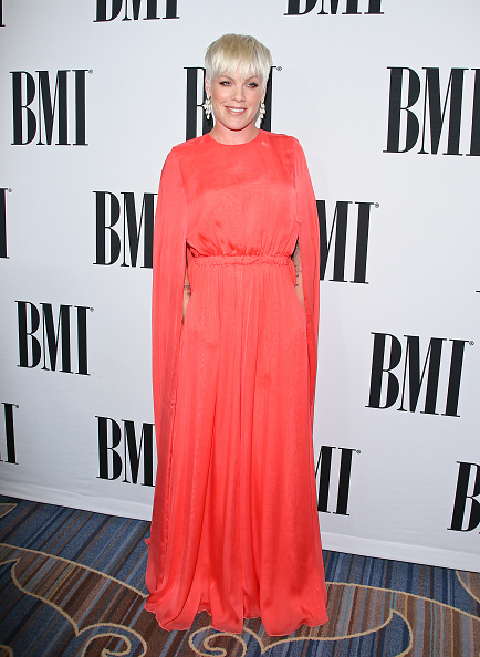 P!nk attends the 63rd Annual BMI Pop Awards in Beverly Hills, Calif. on May 12, 2015.