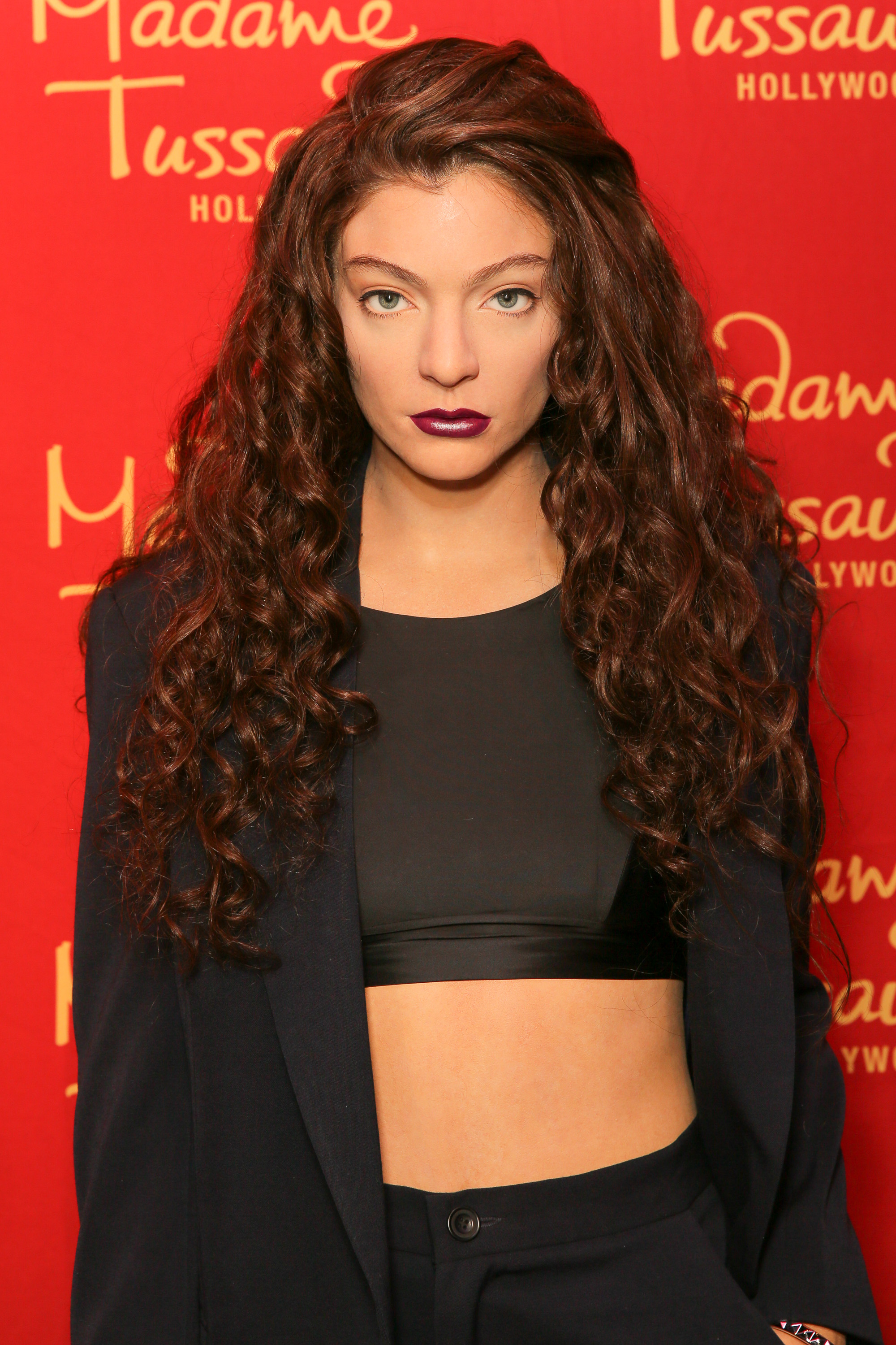 Grammy winning singer-songwriter Lorde is immortalized in wax at Madame Tussauds Hollywood.
