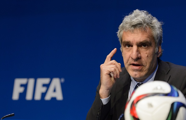 FIFA spokesman Walter De Gregorio gives a press conference at the FIFA headquarters in Zurich on May 27, 2015
