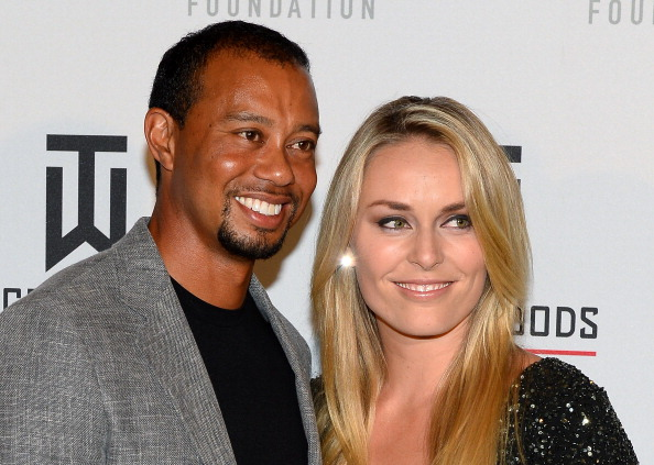 Tiger Woods and Lindsey Vonn attend Tiger Jam 2014 at the Mandalay Bay Events Center, Las Vegas, on May 17, 2014