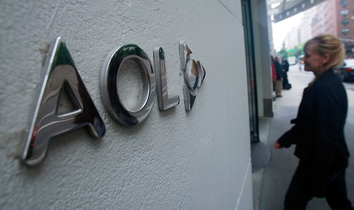 AOL corporate headquarters on Broadway May 28, 2009 in New York City