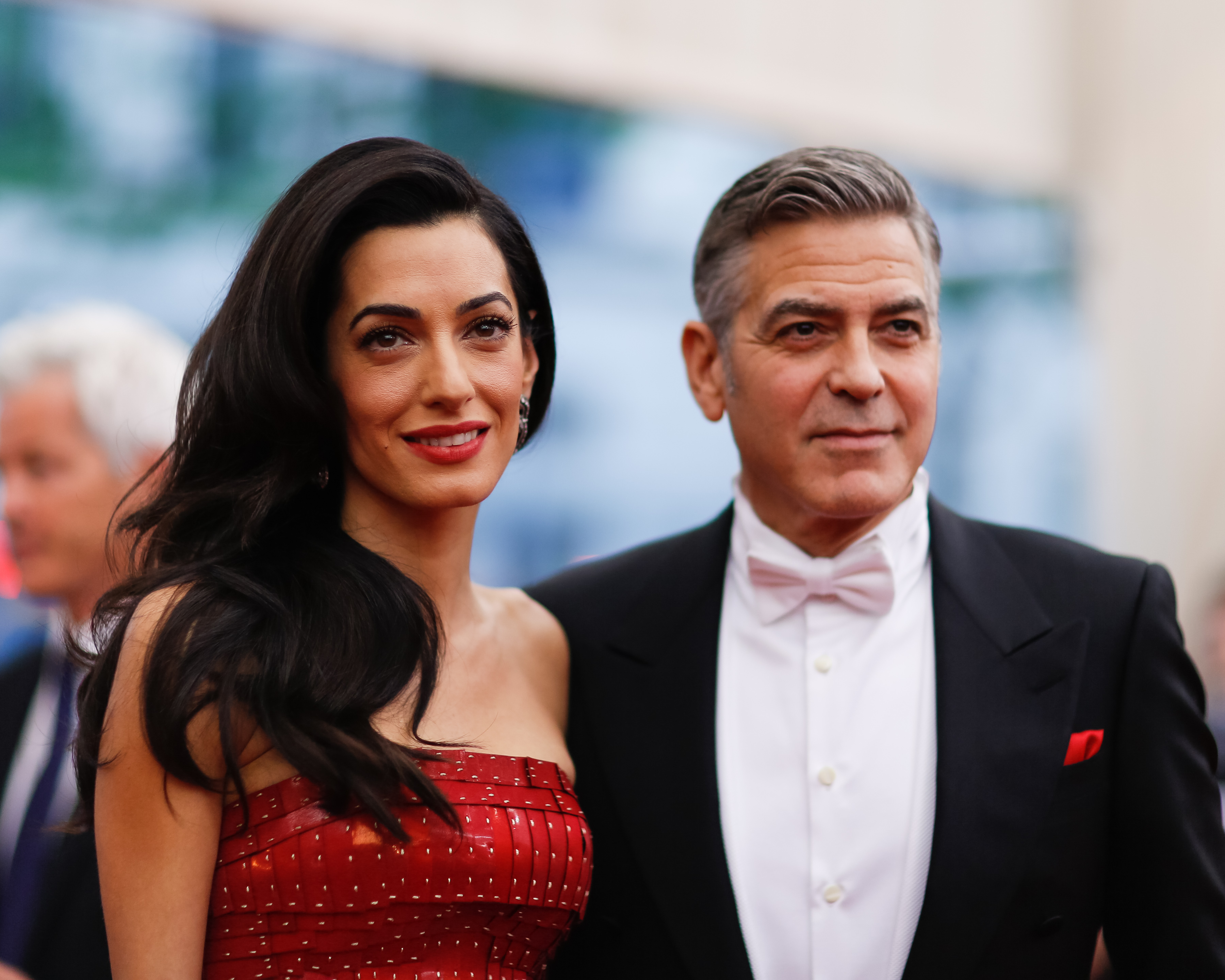 George Clooney and  Amal Alamuddin attend the Met Gala in New York City on May 4, 2015.