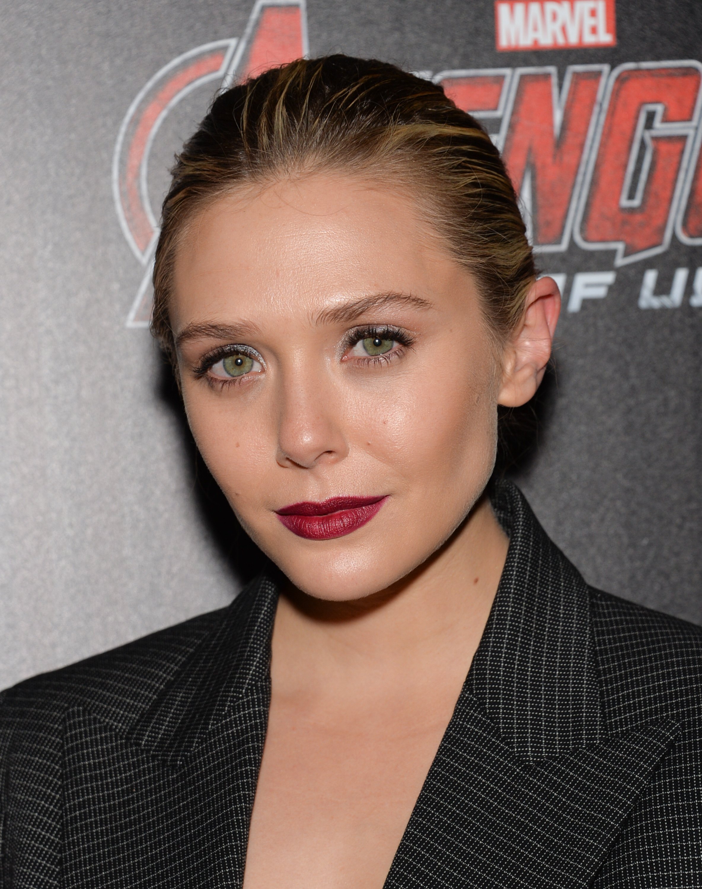 Actress Elizabeth Olsen attends a special screening of Marvel's  Avengers: Age of Ultron  in New York City on April, 28, 2015.