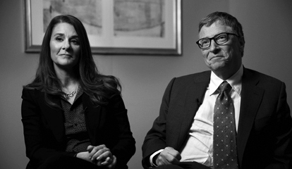 Bill and Melinda Gates are interviewed in New York, Wednesday, Jan. 21, 2015.