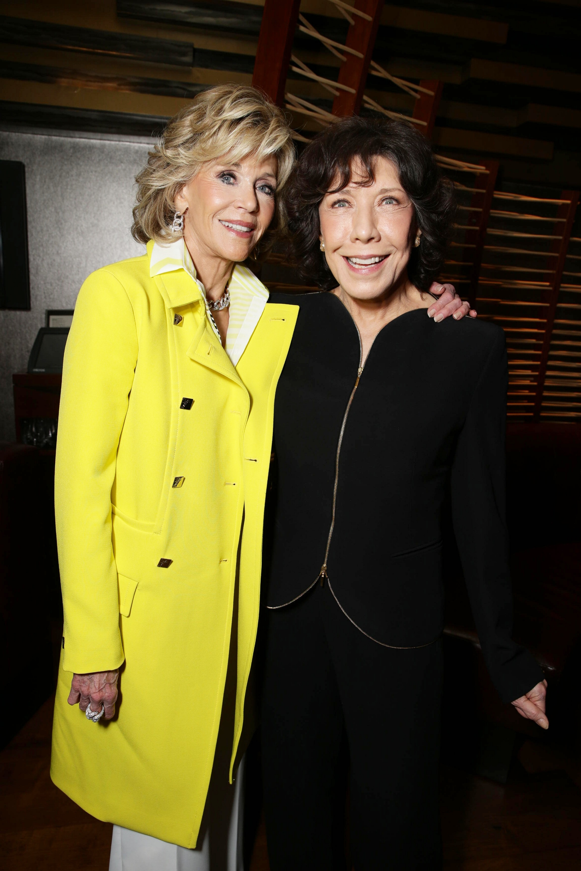 Jane Fonda and Lily Tomlin at the World Premiere of  Grace and Frankie  in Los Angeles on April 29, 2015.