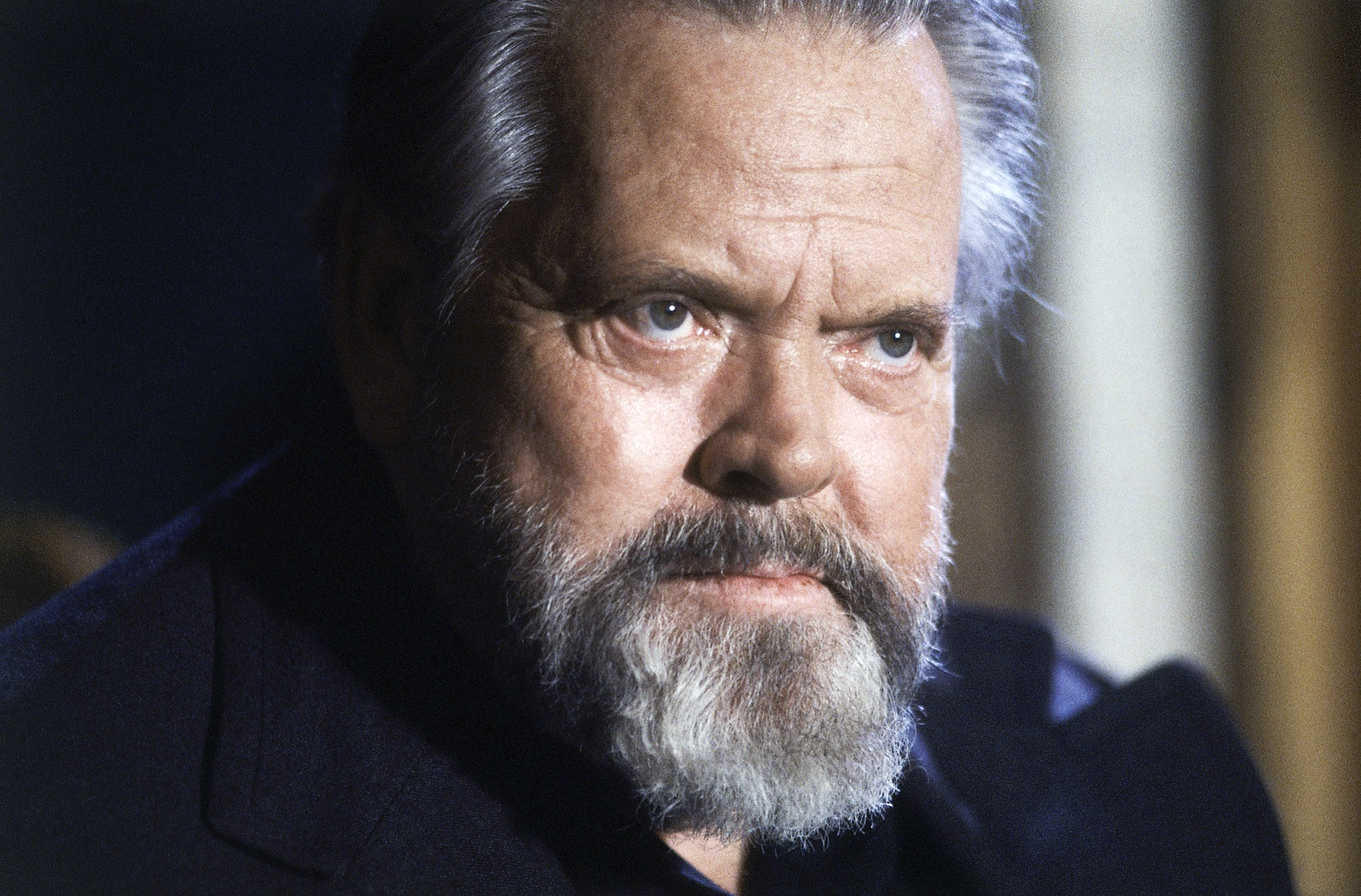 Orson Welles during a press conference in Paris on Feb. 22, 1982.