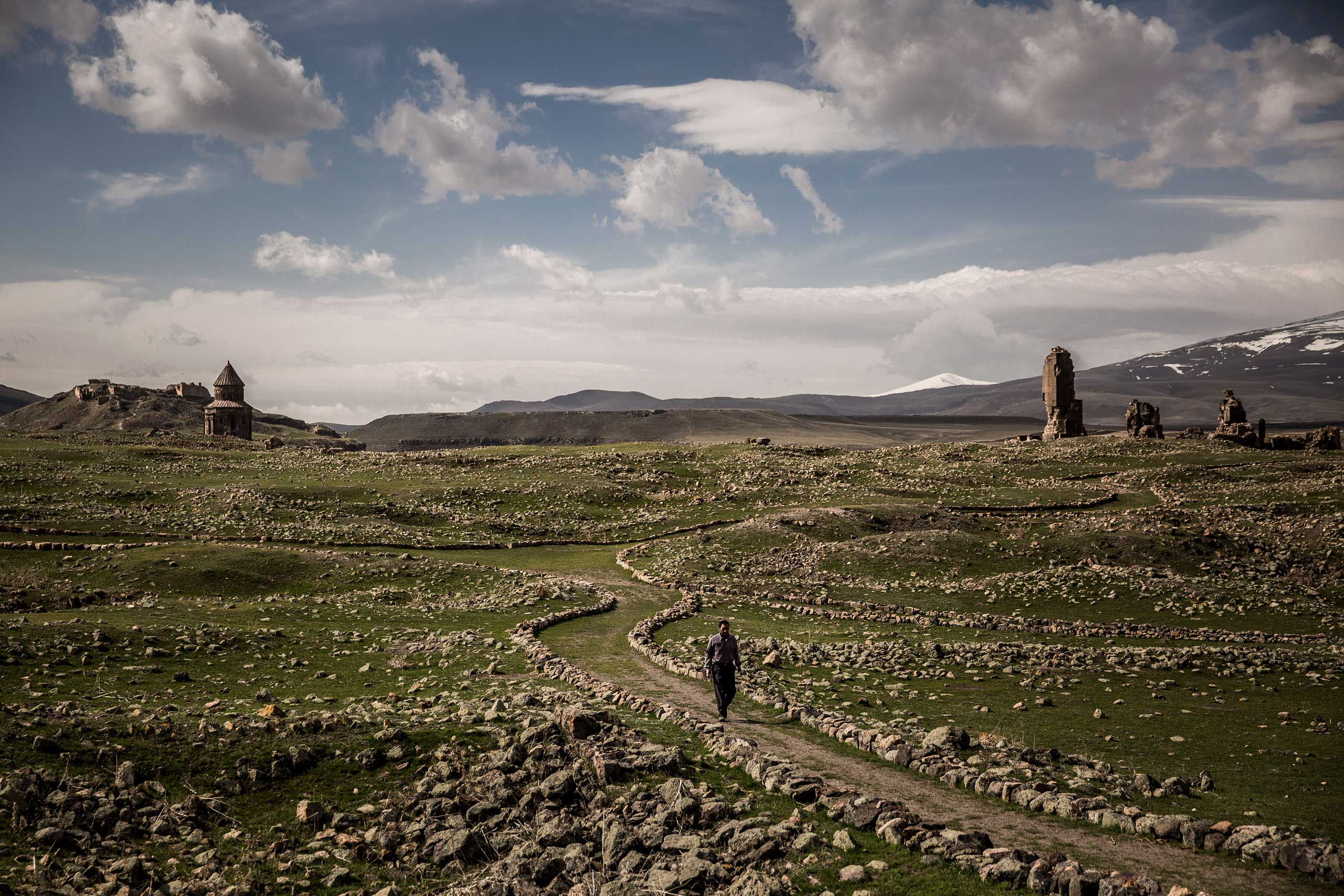 The New York Times: 100 Years Later, a Genocide Haunts the Armenian PsycheThe Ani ruins, once the capital of an Armenian kingdom that stretched from eastern Turkey into modern-day Armenia, in Ani, Turkey, April 8, 2015.