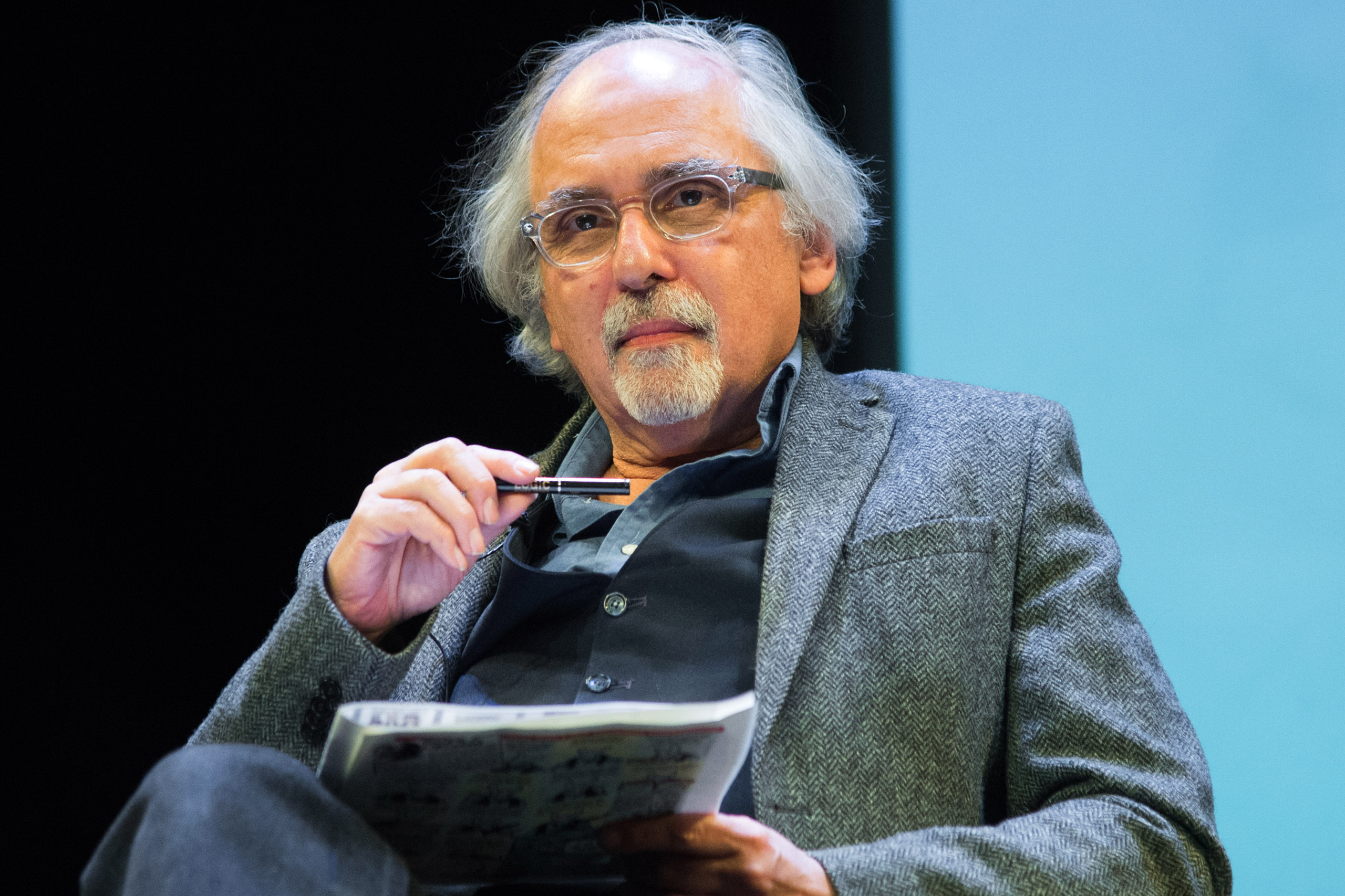 Cartoonist Art Spiegelman attends the French Institute Alliance Francaise's  After Charlie: What's Next for Art, Satire and Censorship  at Florence Gould Hall on Feb. 19, 2015 in New York City.