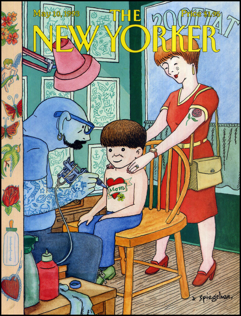 The May 10, 1993 issue of the <i>New Yorker</i>, celebrating Mother's Day, at a time when tattoos were becoming mainstream.