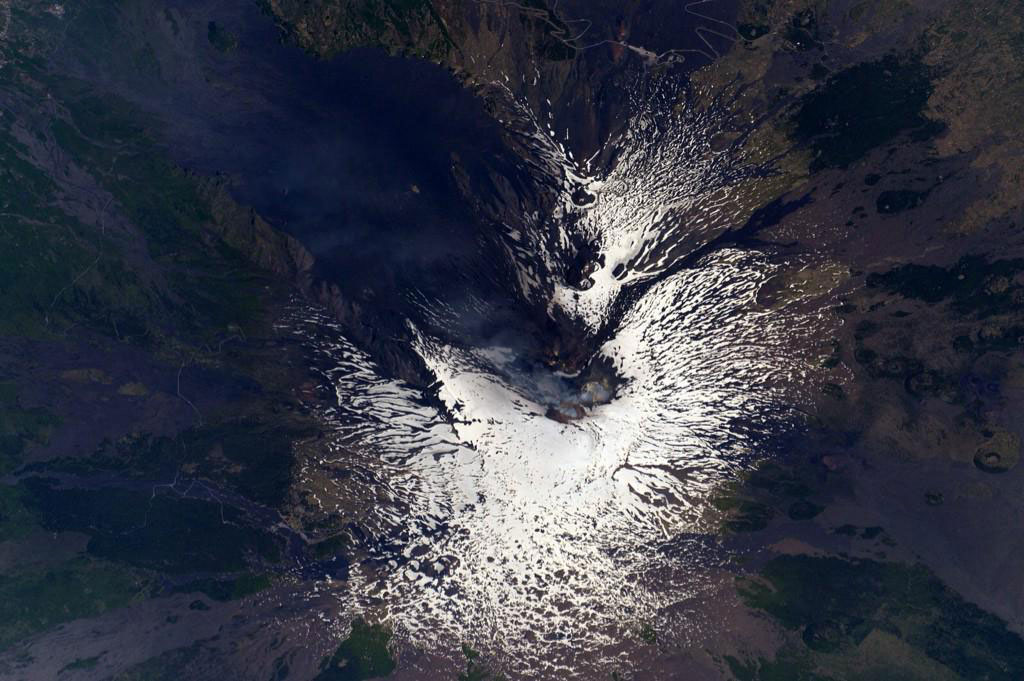 """#MtEtna Highest European active #volcano lives up to its Italian name Mongibello (beautiful mountain) from space too"" - <a href=""https://twitter.com/StationCDRKelly/status/597894593510645760"" target=""_blank"">via Twitter</a> on May 11, 2015"