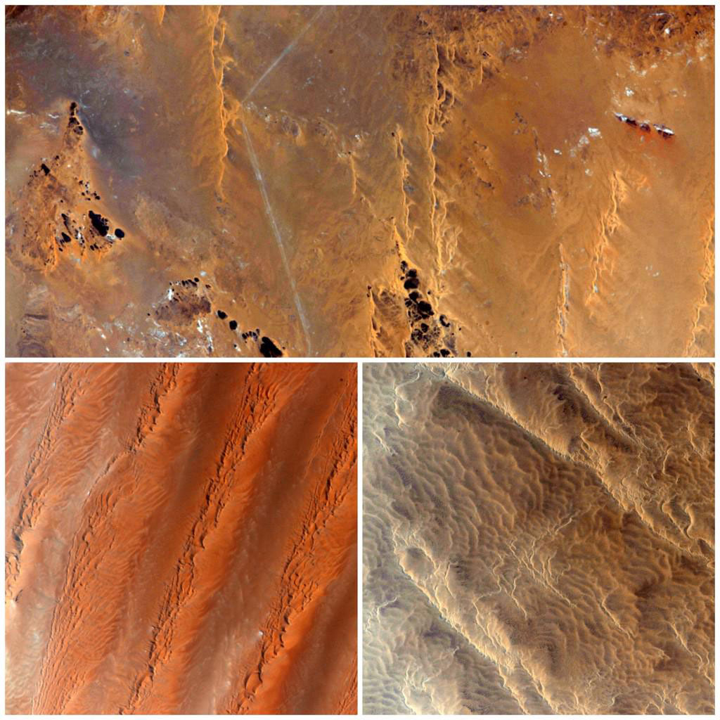 """#Africa Interesting how a barren desert exposes Earth in a surprising way that is beautiful from space #YearInSpace"" - <a href=""https://twitter.com/StationCDRKelly/status/600338510797623298"" target=""_blank"">via Twitter</a> on May 18, 2015"