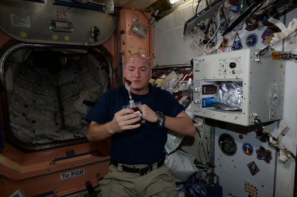 """Had my first cup of fancy coffee yesterday from the much anticipated @Space_Station #espresso machine. Not too bad."" - <a href=""https://twitter.com/StationCDRKelly/status/595310866406453249"" target=""_blank"">via Twitter</a> on May 4, 2015"