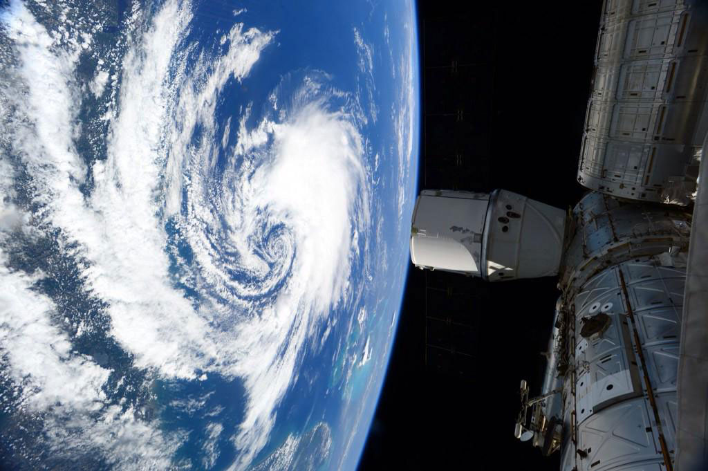 """Subtropical Storm #Ana churns off the East coast of USA. #Wx from @Space_Station. #YearInSpace"" - <a href=""https://twitter.com/StationCDRKelly/status/596791662136852480"" target=""_blank"">via Twitter</a> on May 8, 2015"
