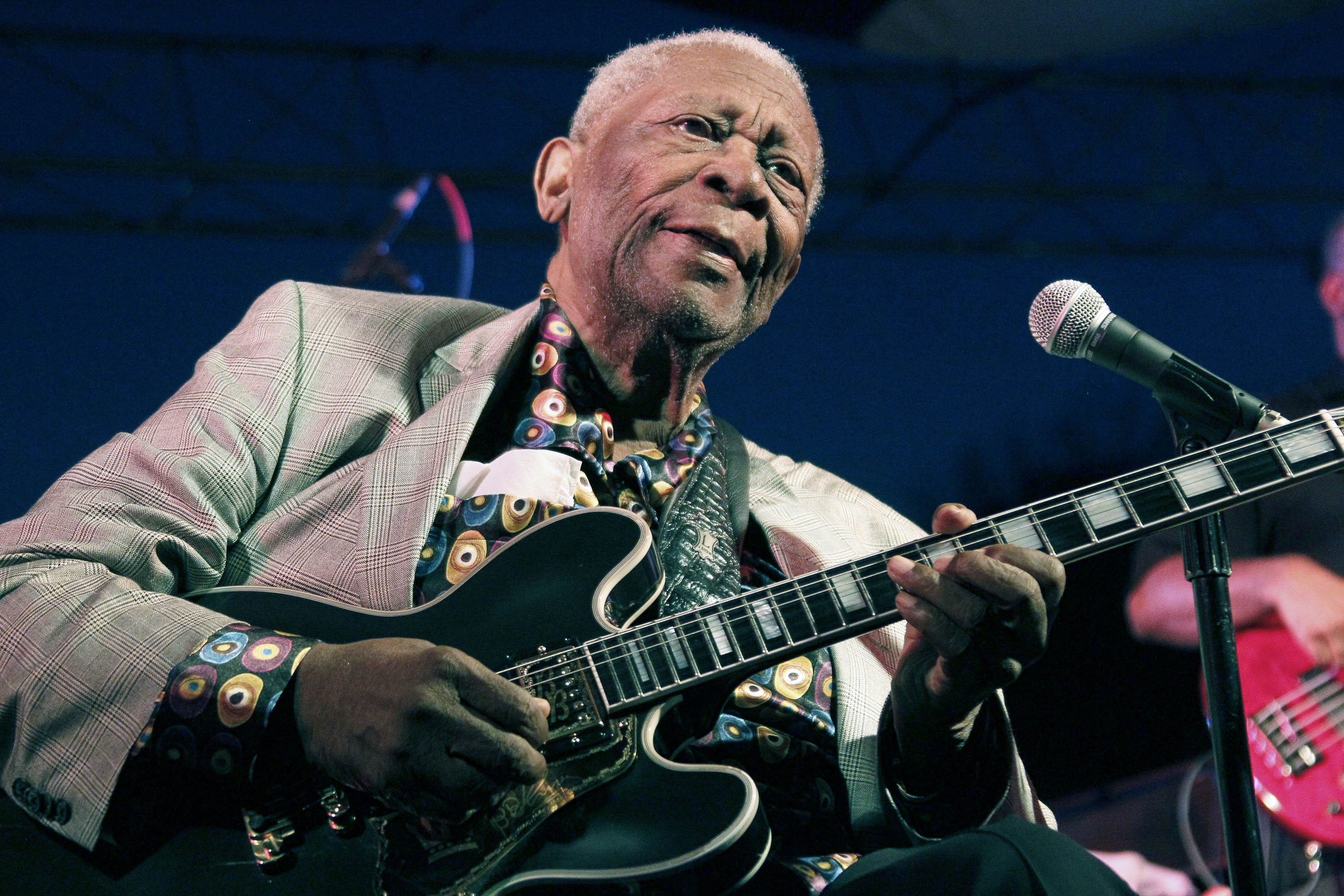 B.B. King performs in Indianola, Miss., on Aug. 22, 2012