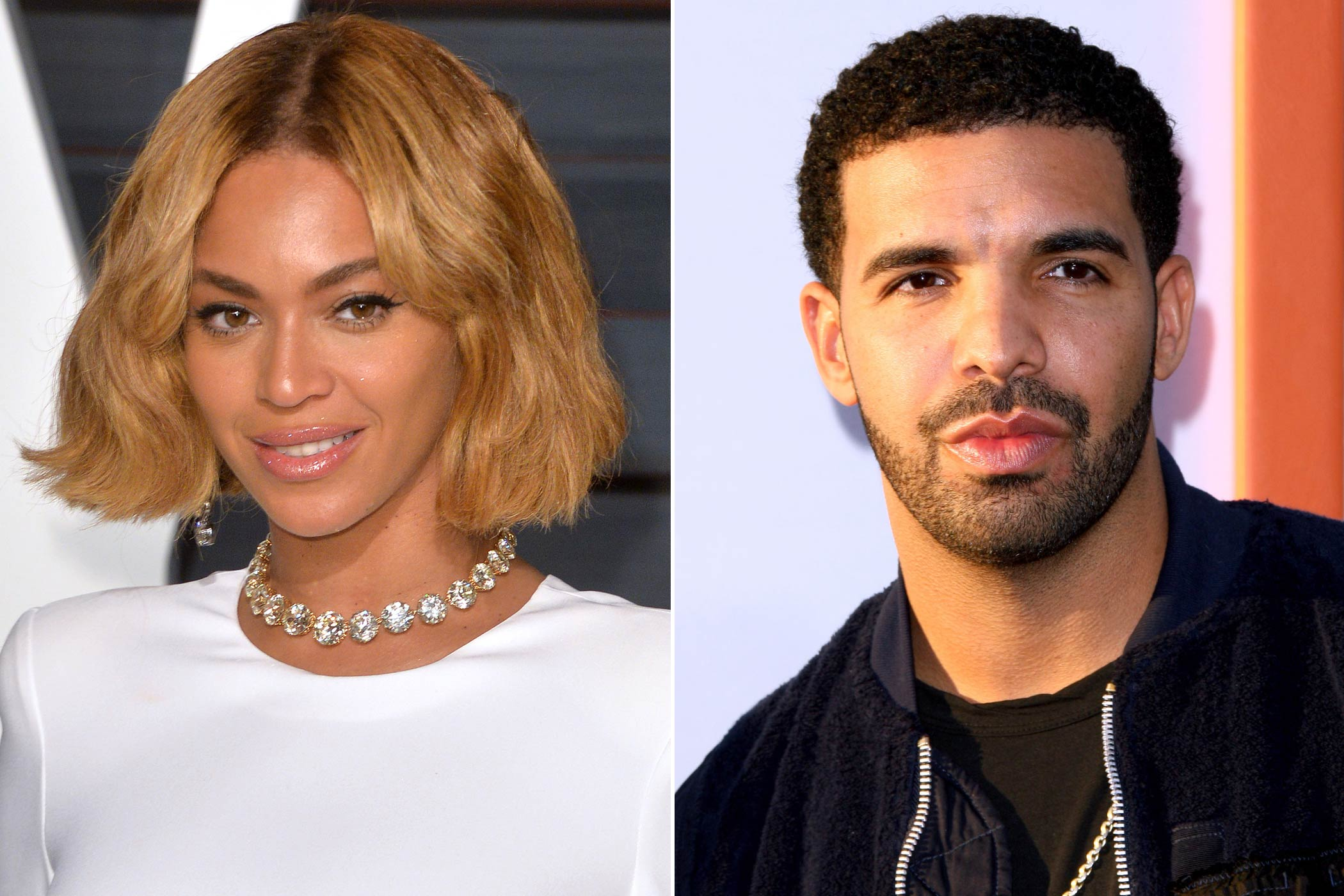 From left: Beyoncé and Drake