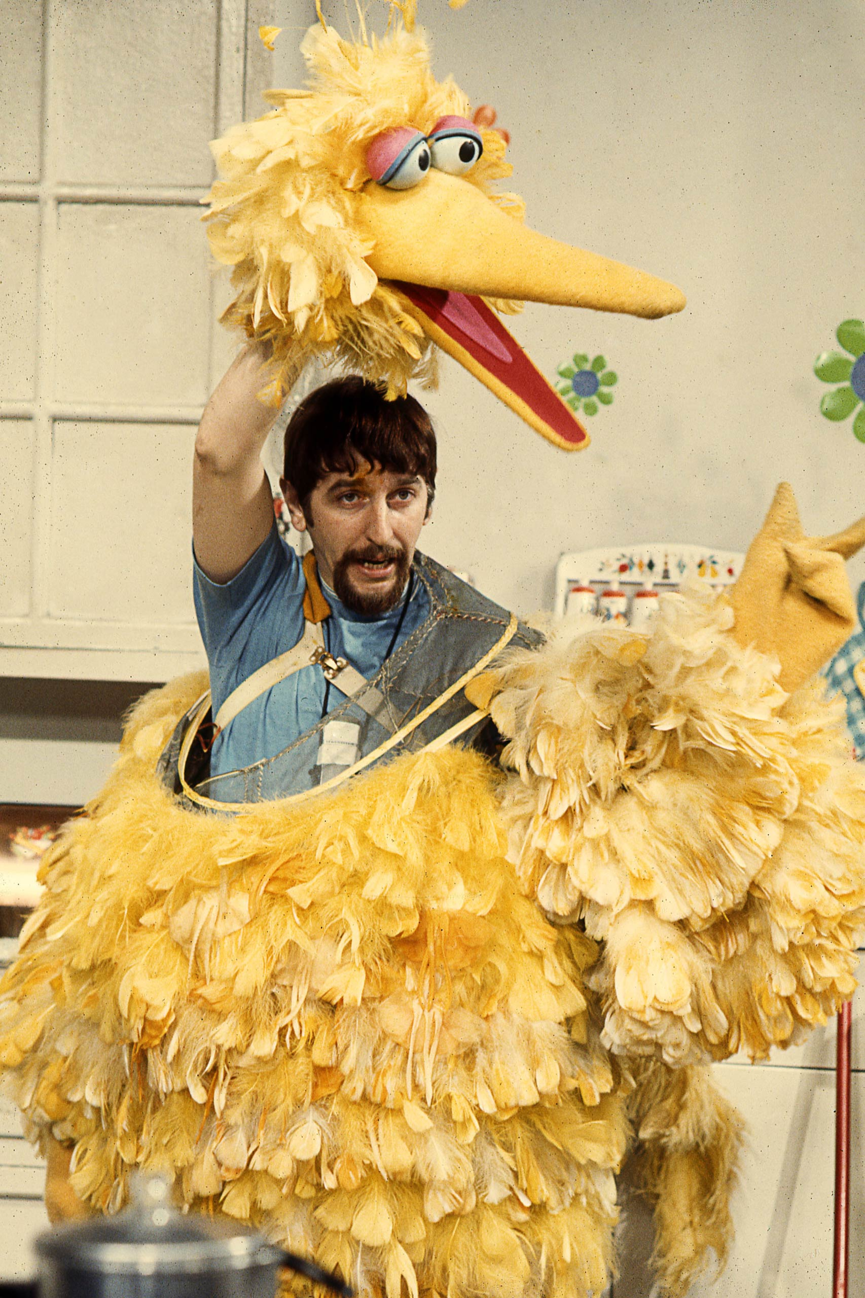 Caroll Spinney joined Sesame Street in its inaugural 1969 season playing both Big Bird and Oscar the Grouch.