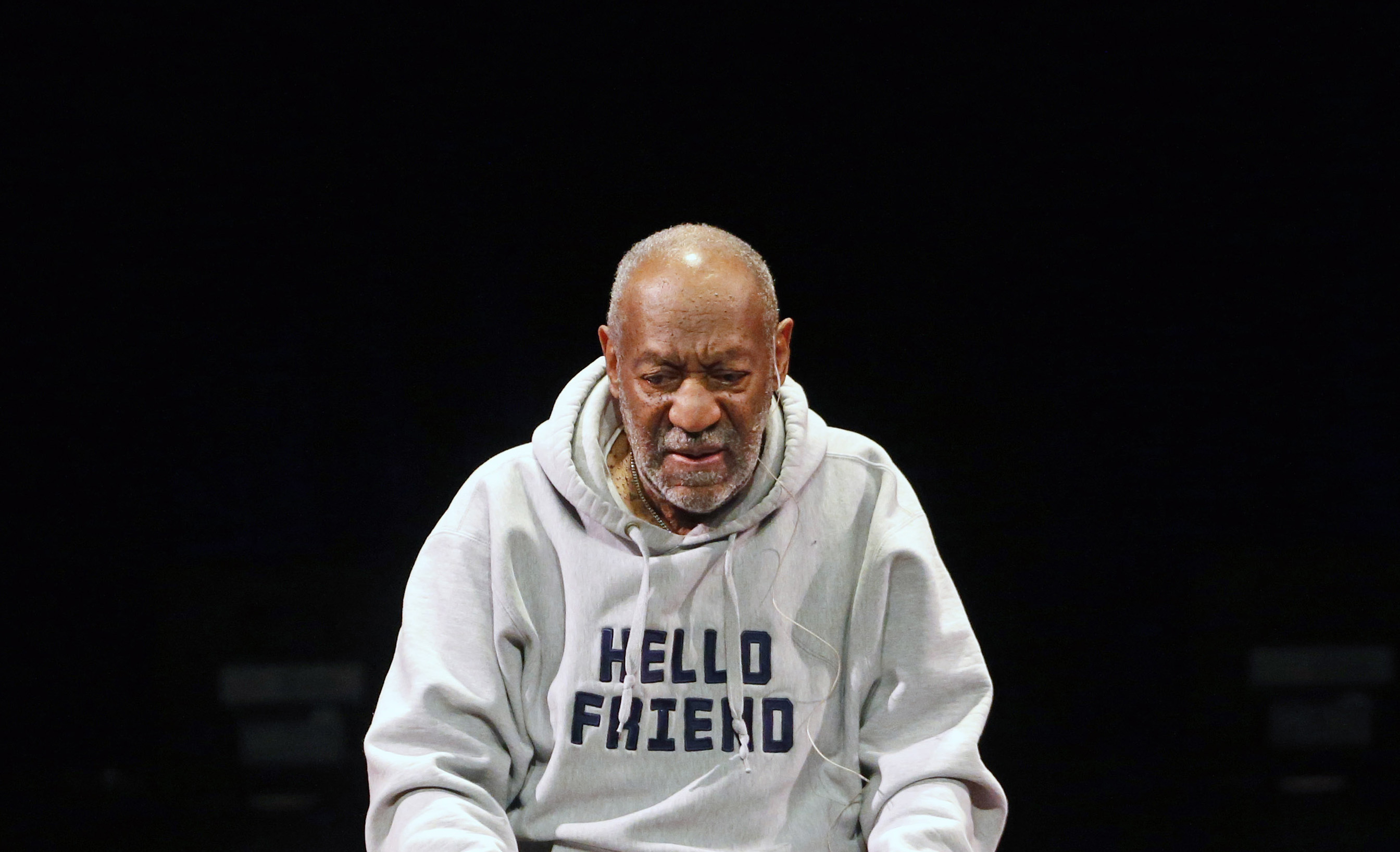 Comedian Bill Cosby performs at the Buell Theater in Denver, on Jan. 17, 2015.
