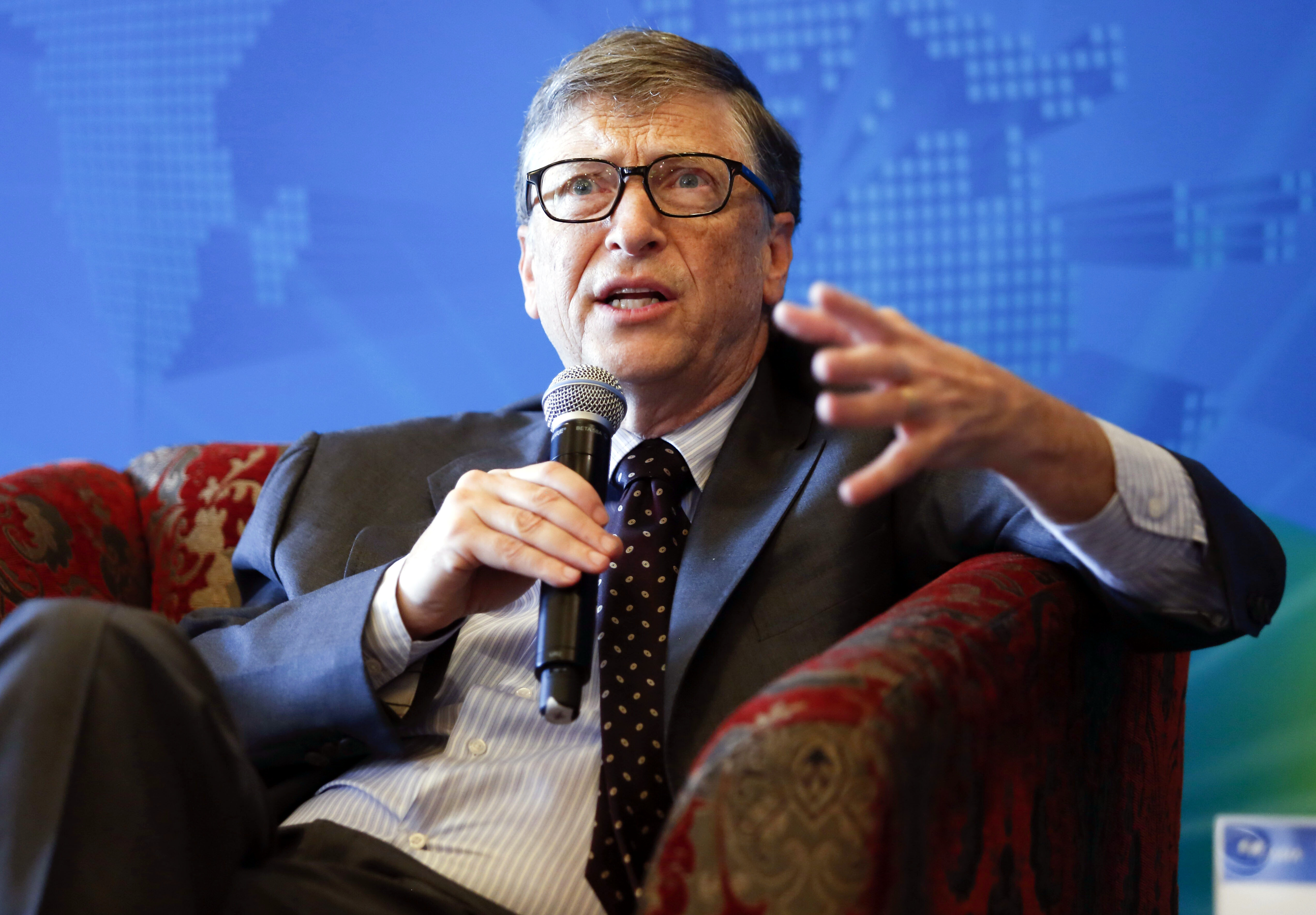 Bill Gates, co-founder of Microsoft and co-chair of the Bill and Melinda Gates Foundation, speaks at a breakfast meeting with the theme  Dialogue: Technology Innovation for a Sustainable Future  during the Boao Forum for Asia Annual Conference 2015 in Qionghai city, China's Hainan province, on March 29, 2015