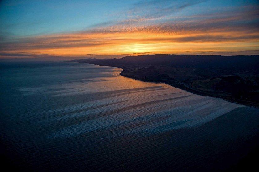 California Oil Spill Refugio State Beach Goleta