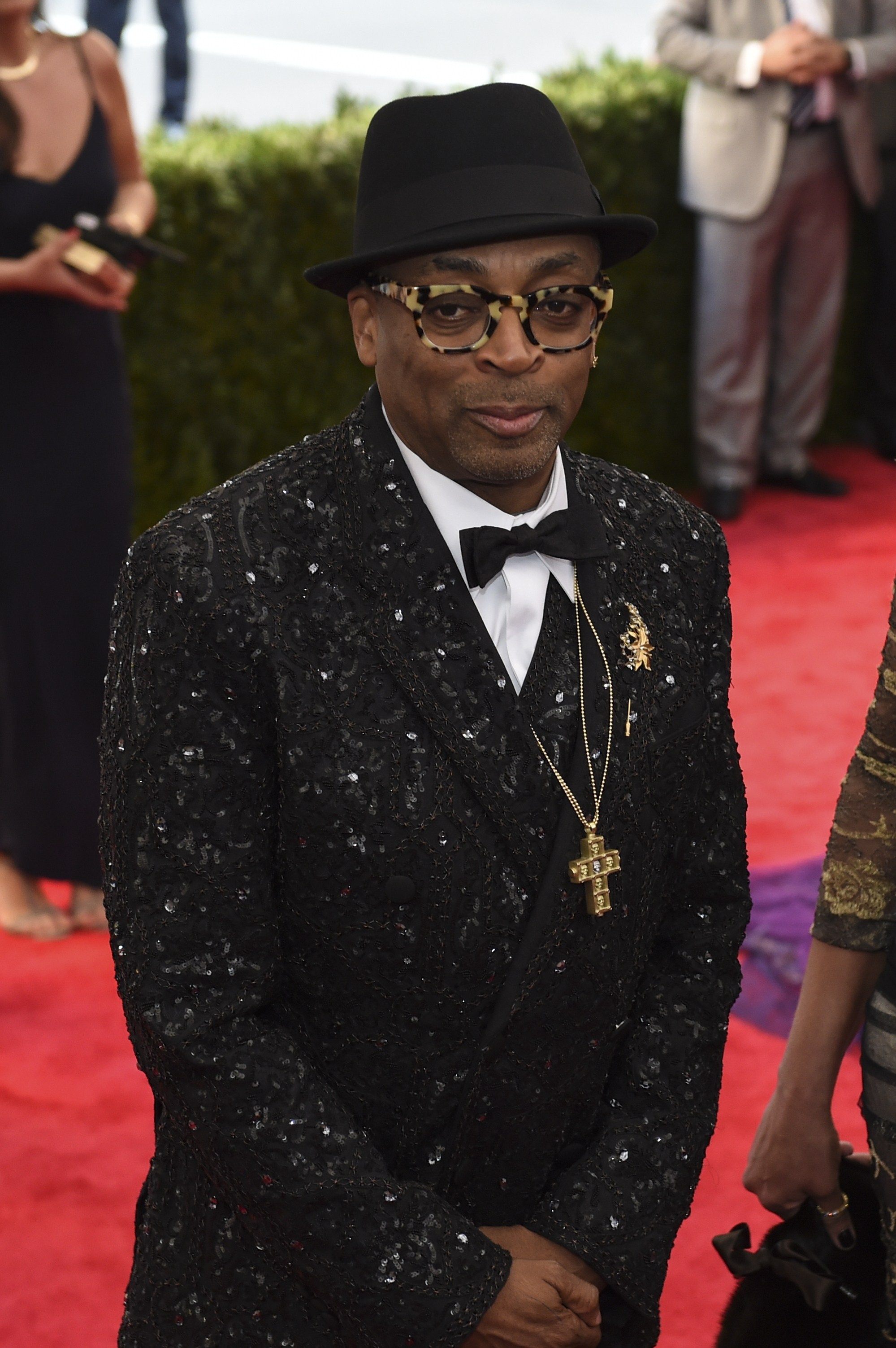 Spike Lee arrives at the Costume Institute Gala Benefit at The Metropolitan Museum of Art May 5, 2015 in New York.