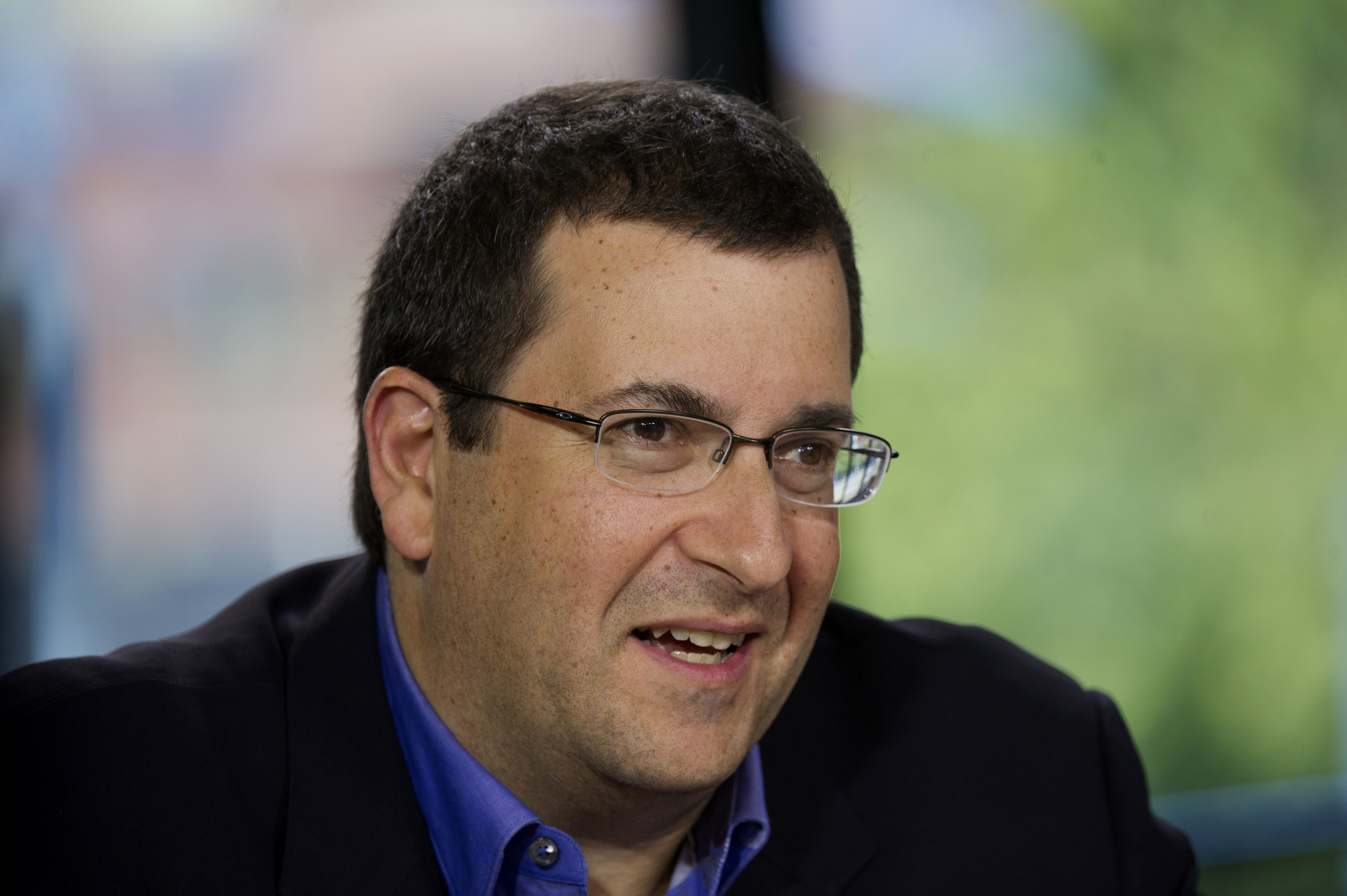 David  Dave  Goldberg, chief executive officer of SurveyMonkey.com LLC, speaks during a Bloomberg West Television interview in San Francisco, on July 29, 2014.