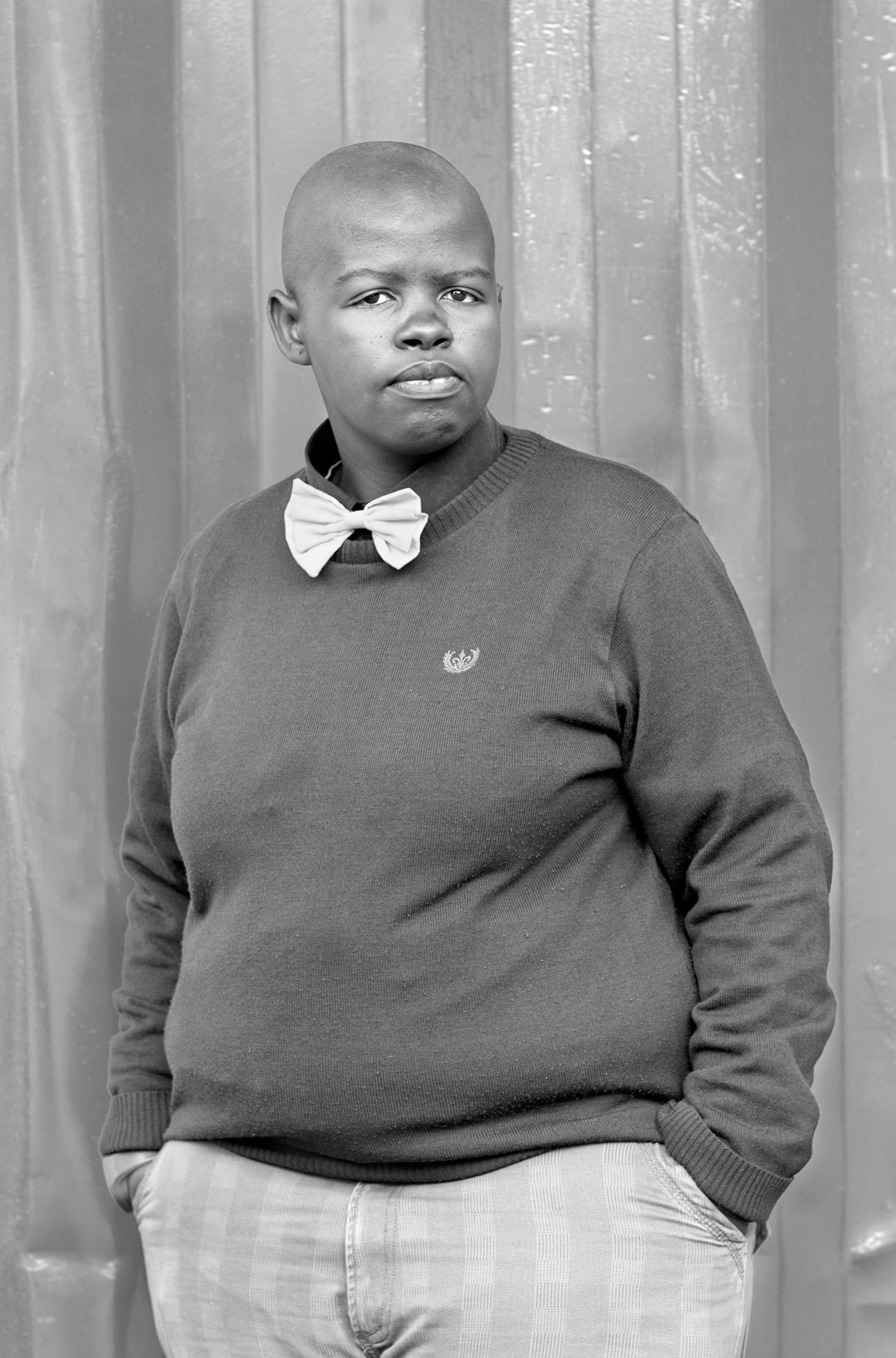 Lungile Cleo Dladla, Kwa-Thema Community Hall Springs, Johannesburg. From the series Faces and Phases, 2011.