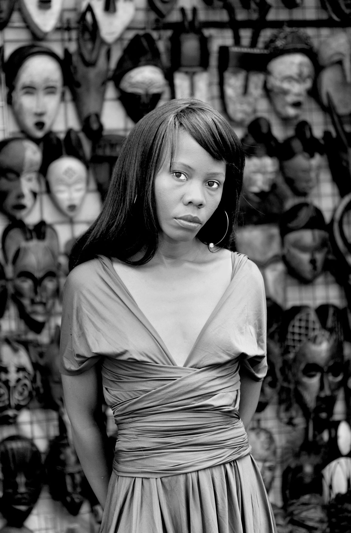 Kekeletso Khena, Green Market Square, Cape Town. From the series Faces and Phases, 2012.