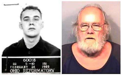 Frank Freshwaters, 79, of Akron, Ohio, United States, is seen in 1959 and 2015 photos released by the Brevard County Sheriff's Office in Florida.