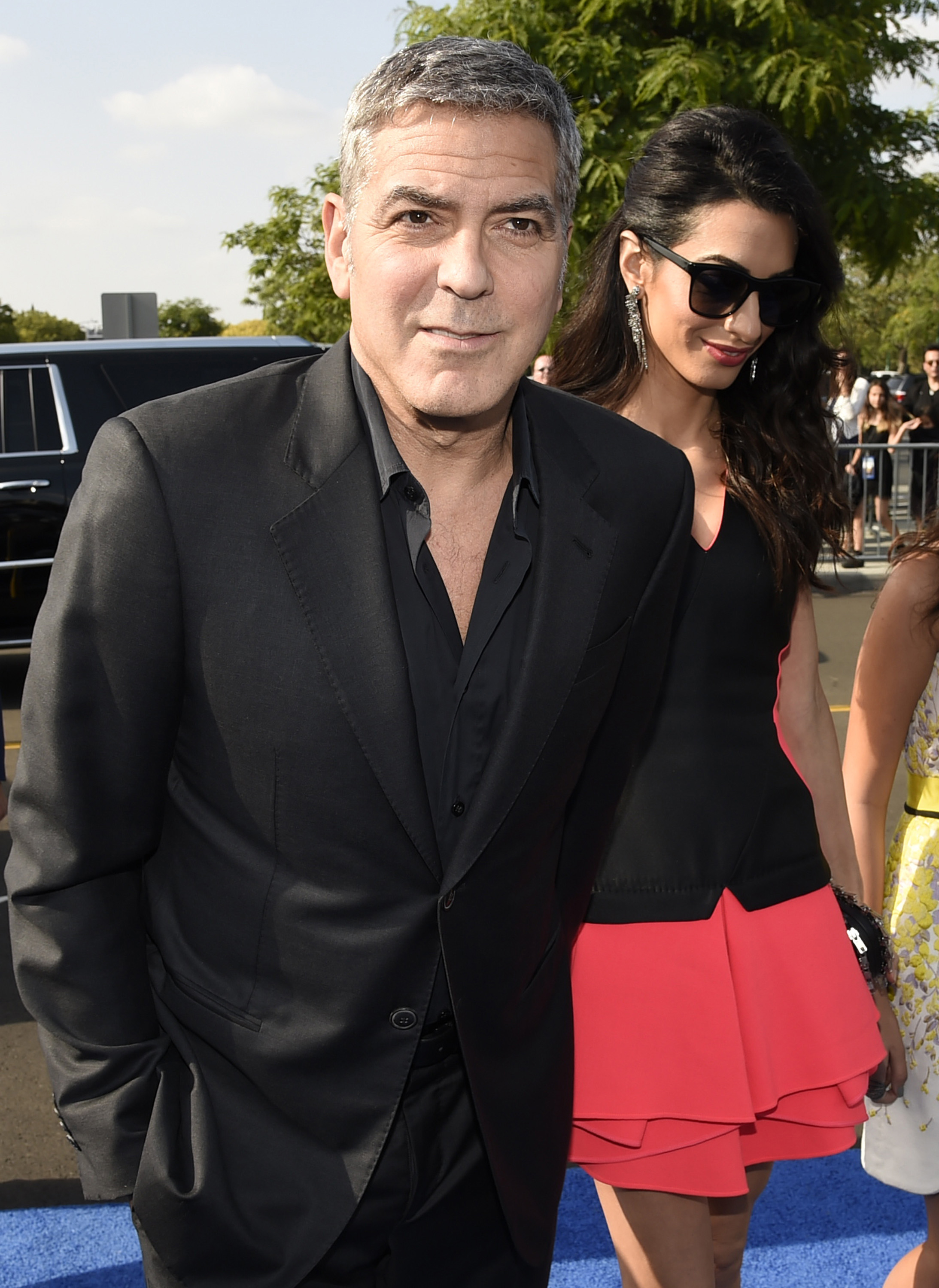 George Clooney and Amal Clooney arrive at the world premiere of  Tomorrowland  at AMC Downtown Disney on May 9, 2015, in Anaheim, Calif.