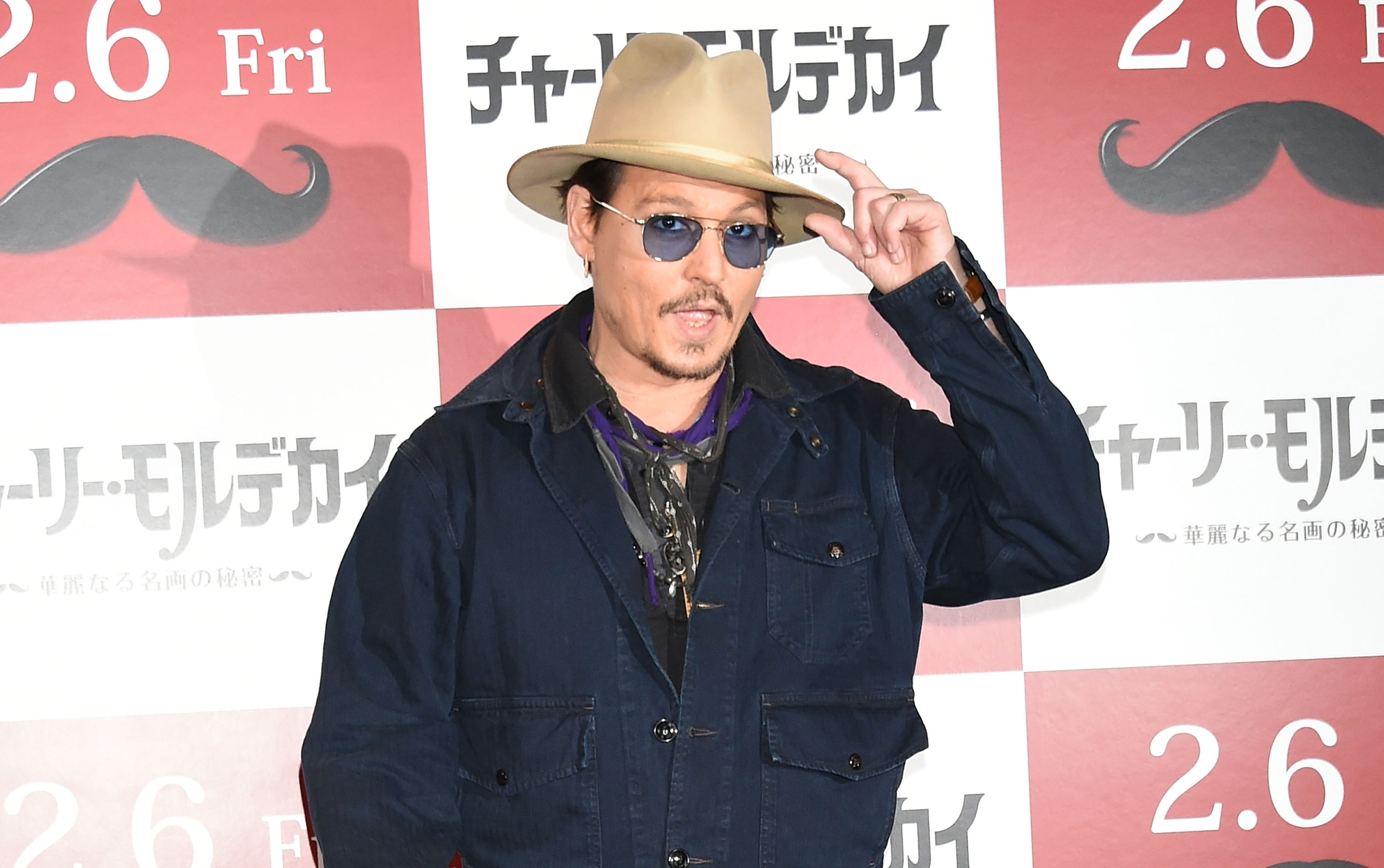 Johnny Depp attends the photo call for  Mortdecai  at The Peninsula Tokyo on January 28, 2015 in Tokyo, Japan.