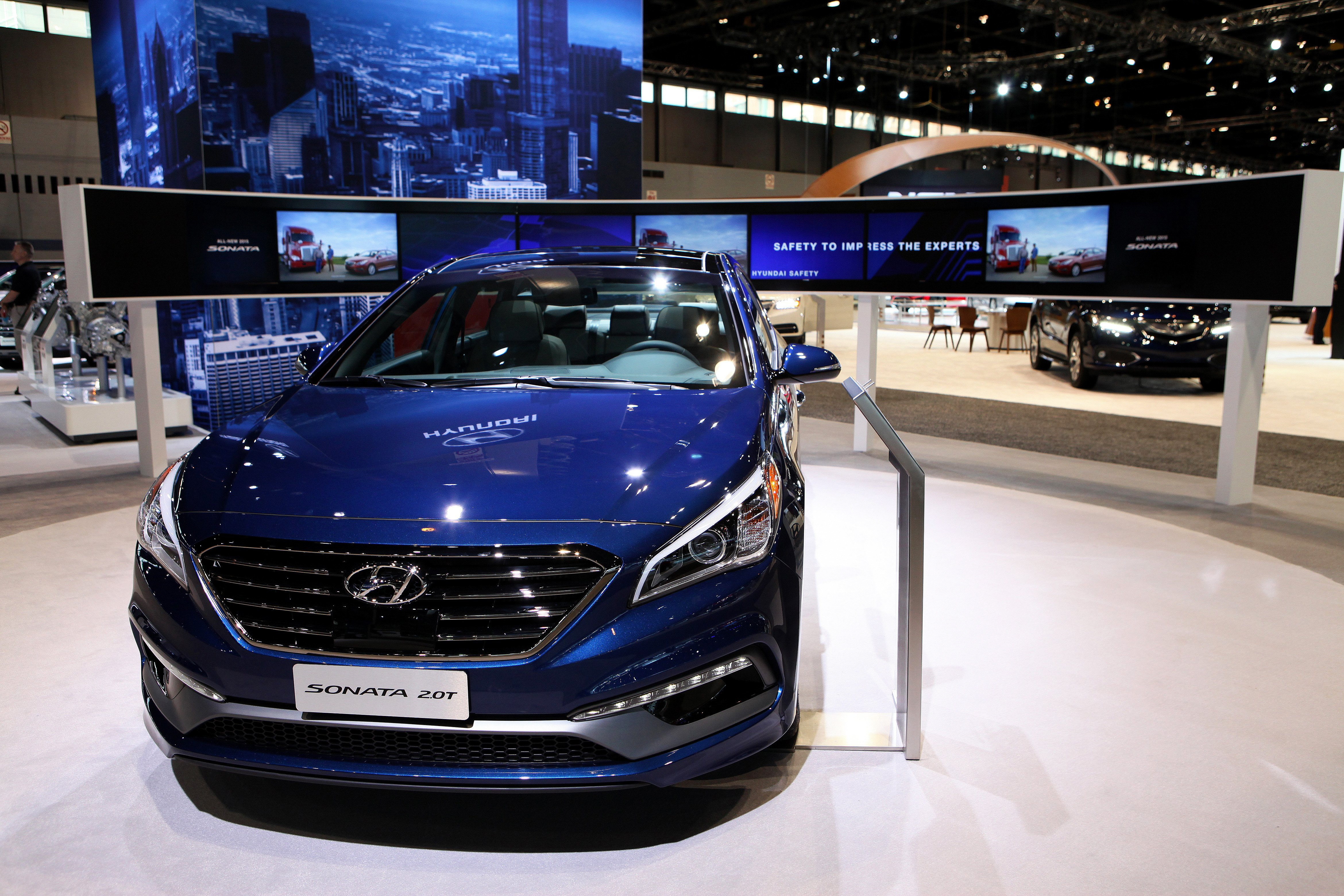 2015 Hyundai Sonata 2.0T at the 107th Annual Chicago Auto Show at McCormick Place in Chicago, Illinois on FEBRUARY 13, 2015.