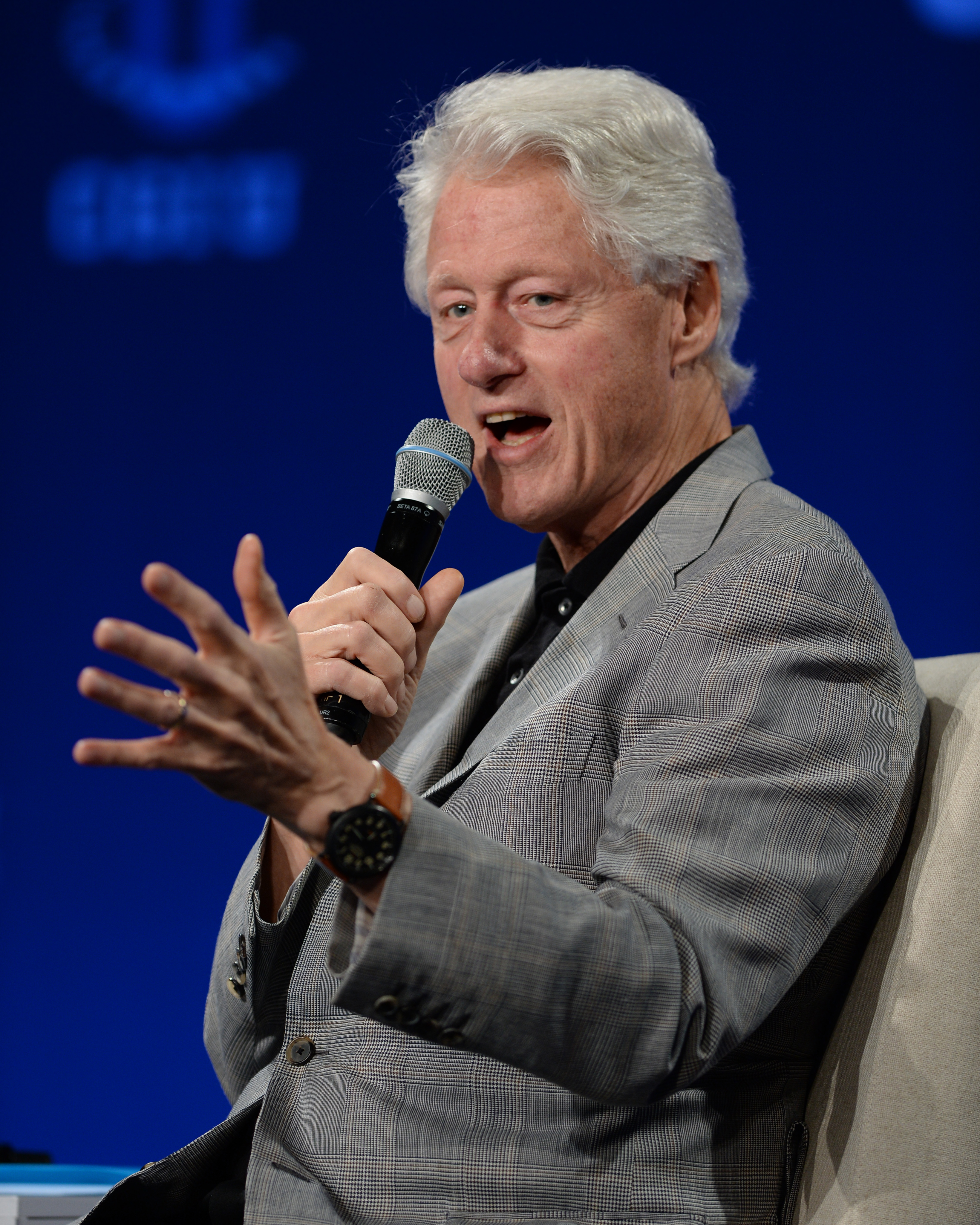 Former US President Bill Clinton attends the Clinton Global Initiative University at University of Miami on March 7, 2015 in Miami, Florida.