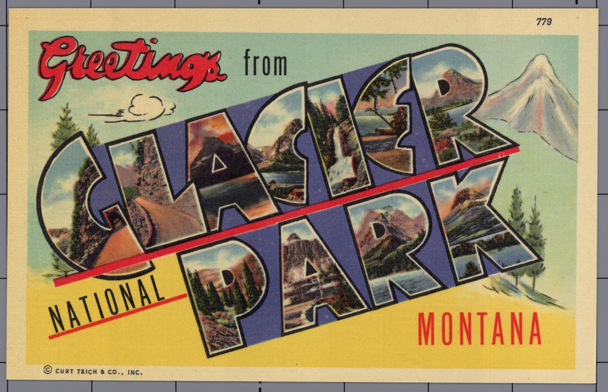 Greeting Card from Glacier National Park. ca. 1941
