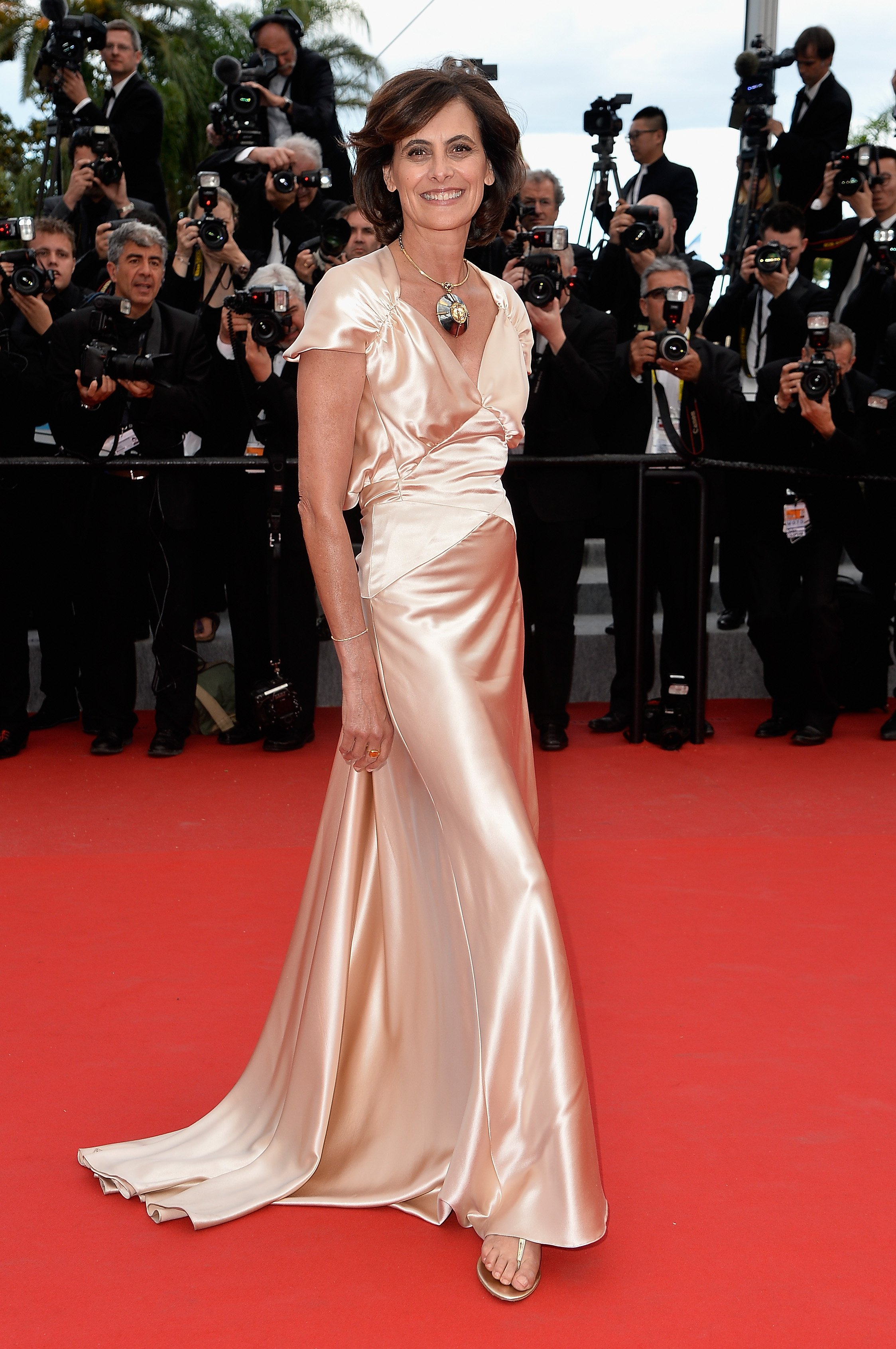 Ines de la Fressange attends the Premiere of  Irrational Man  during the 68th annual Cannes Film Festival on May 15, 2015 in Cannes, France.