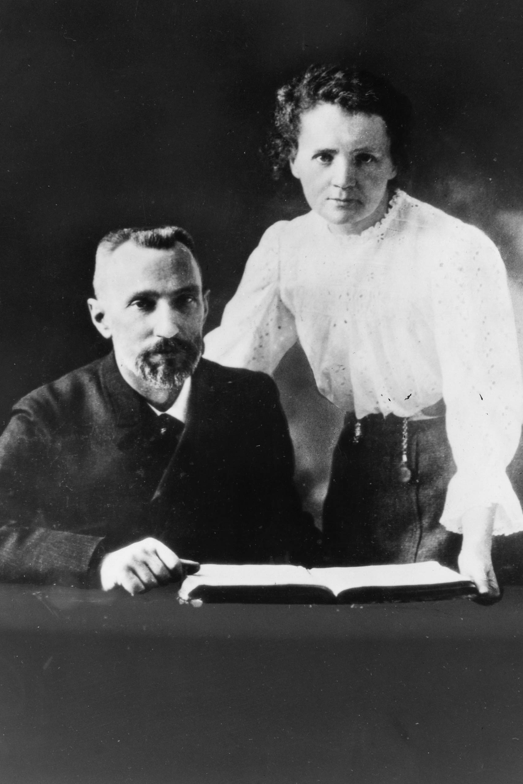 Pierre Curie (1859-1906) and Marie Sklodowska Curie (1867-1934) Artist: Anonymous