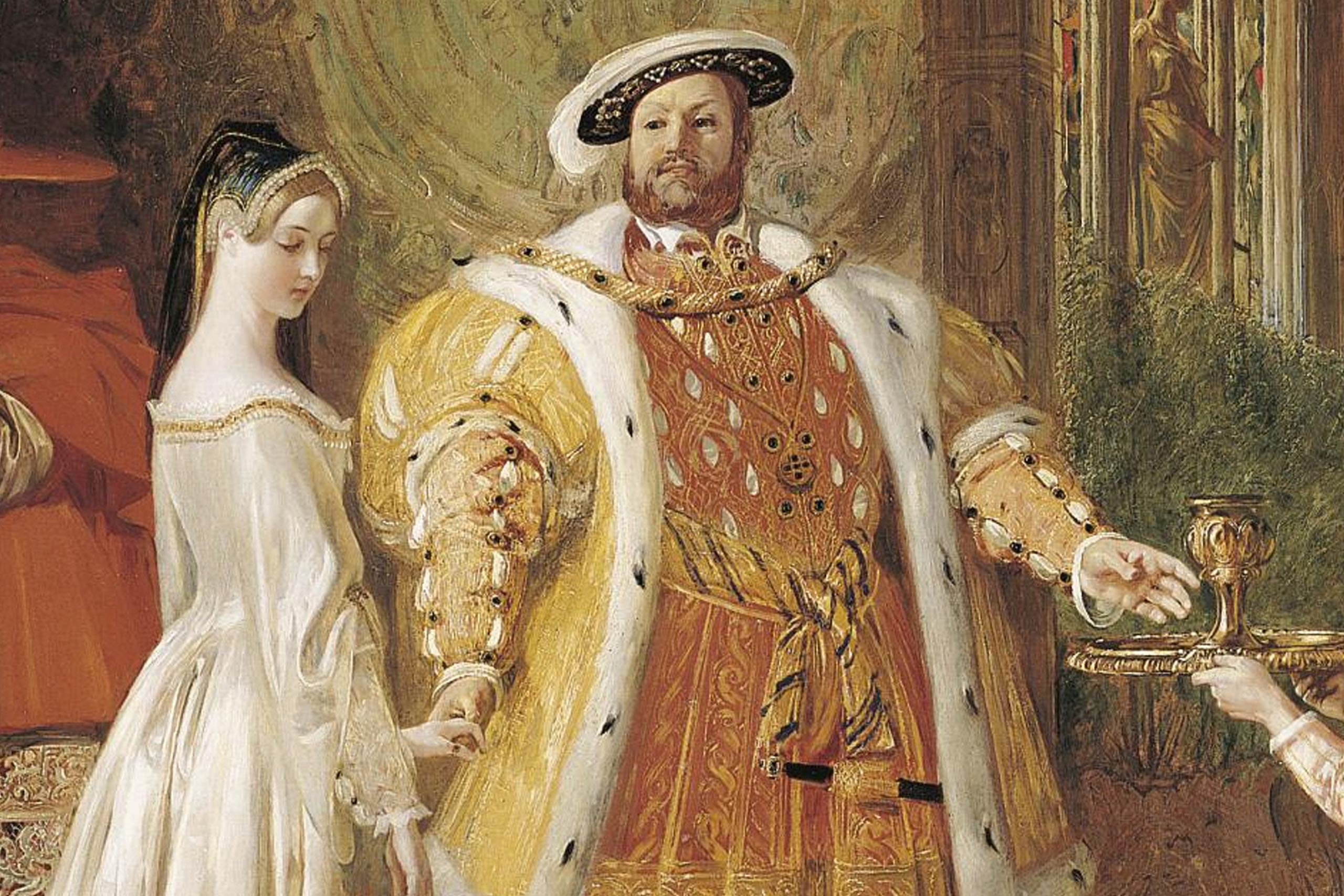 First meeting of Henry VIII and Anne Boleyn, 1835. Artist: Maclise, Daniel (1806-1870)