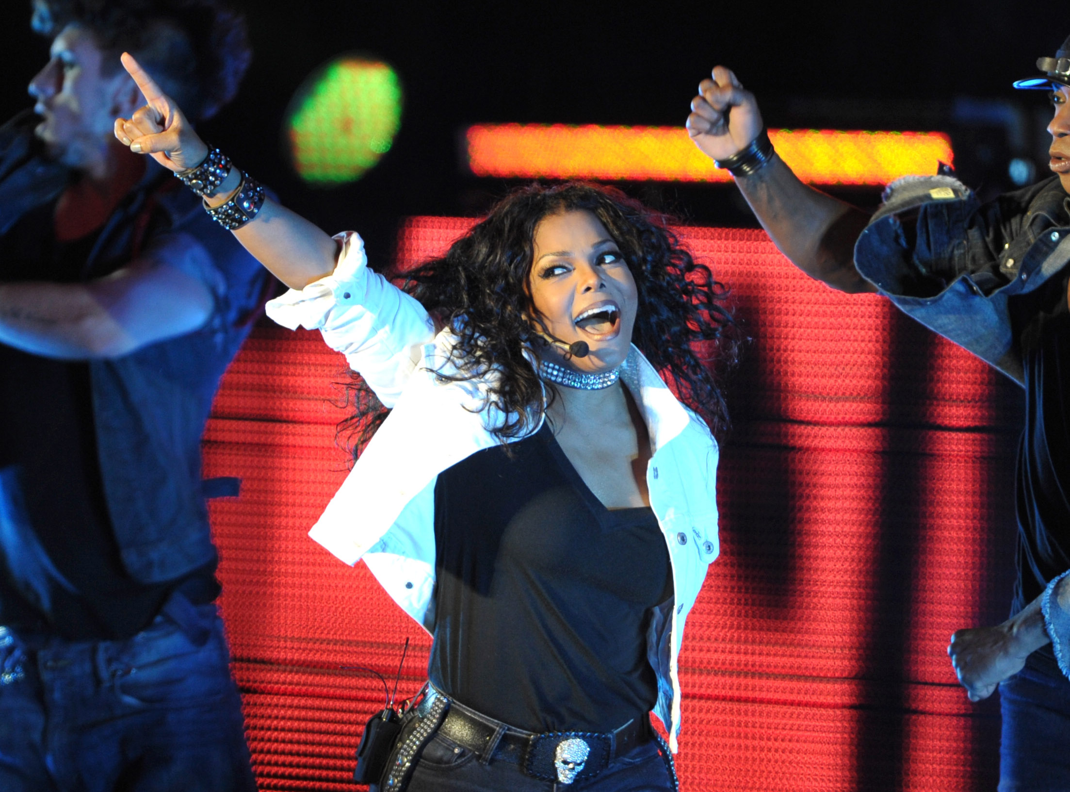 Singer Janet Jackson performs on her  Number Ones: Up Close and Personal  tour at The Greek Theatre on September 1, 2011 in Los Angeles.