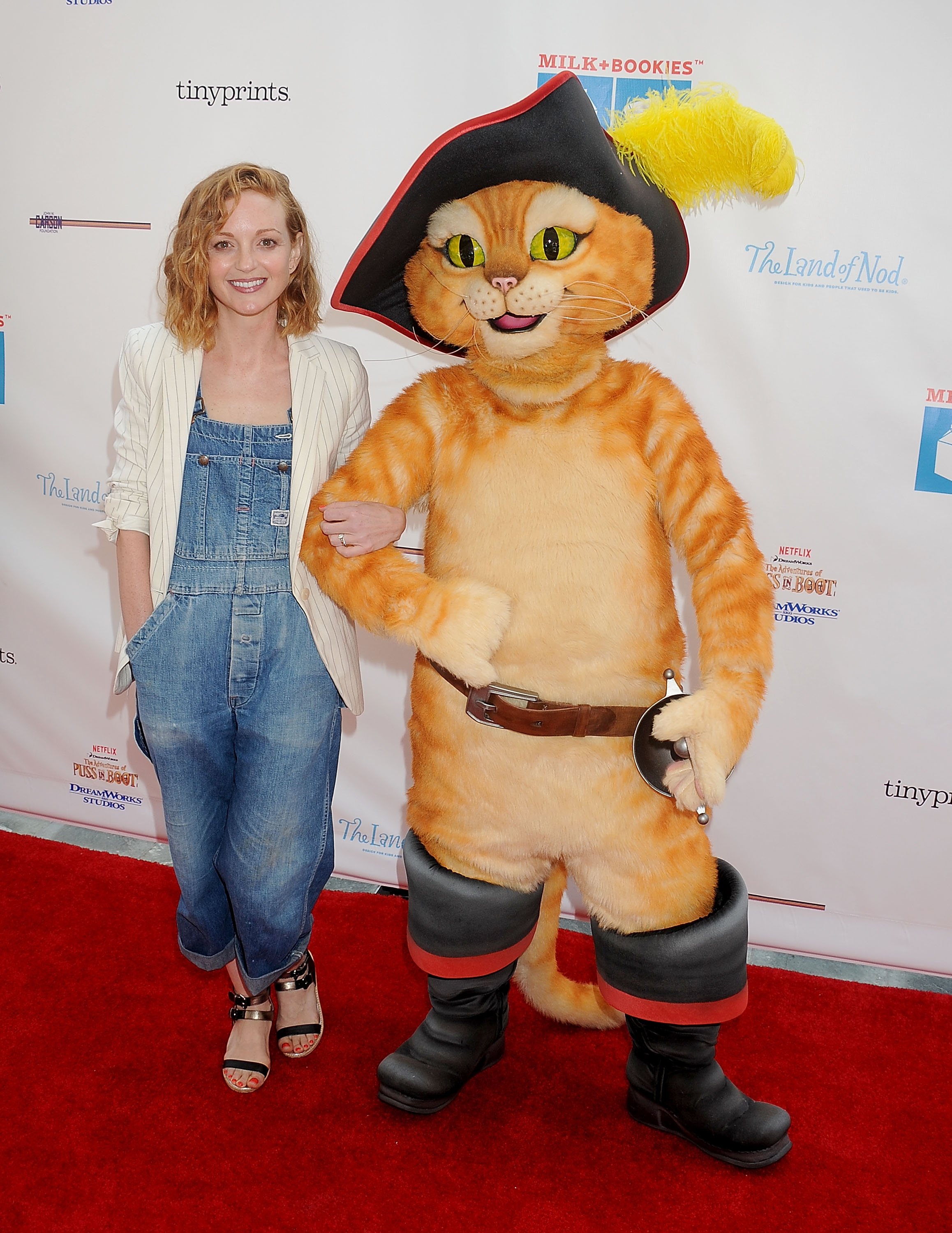 Jayma Mays arrives at the Milk + Bookies 10th Annual Story Time Celebration at Skirball Cultural Center on April 19, 2015 in Los Angeles, California.