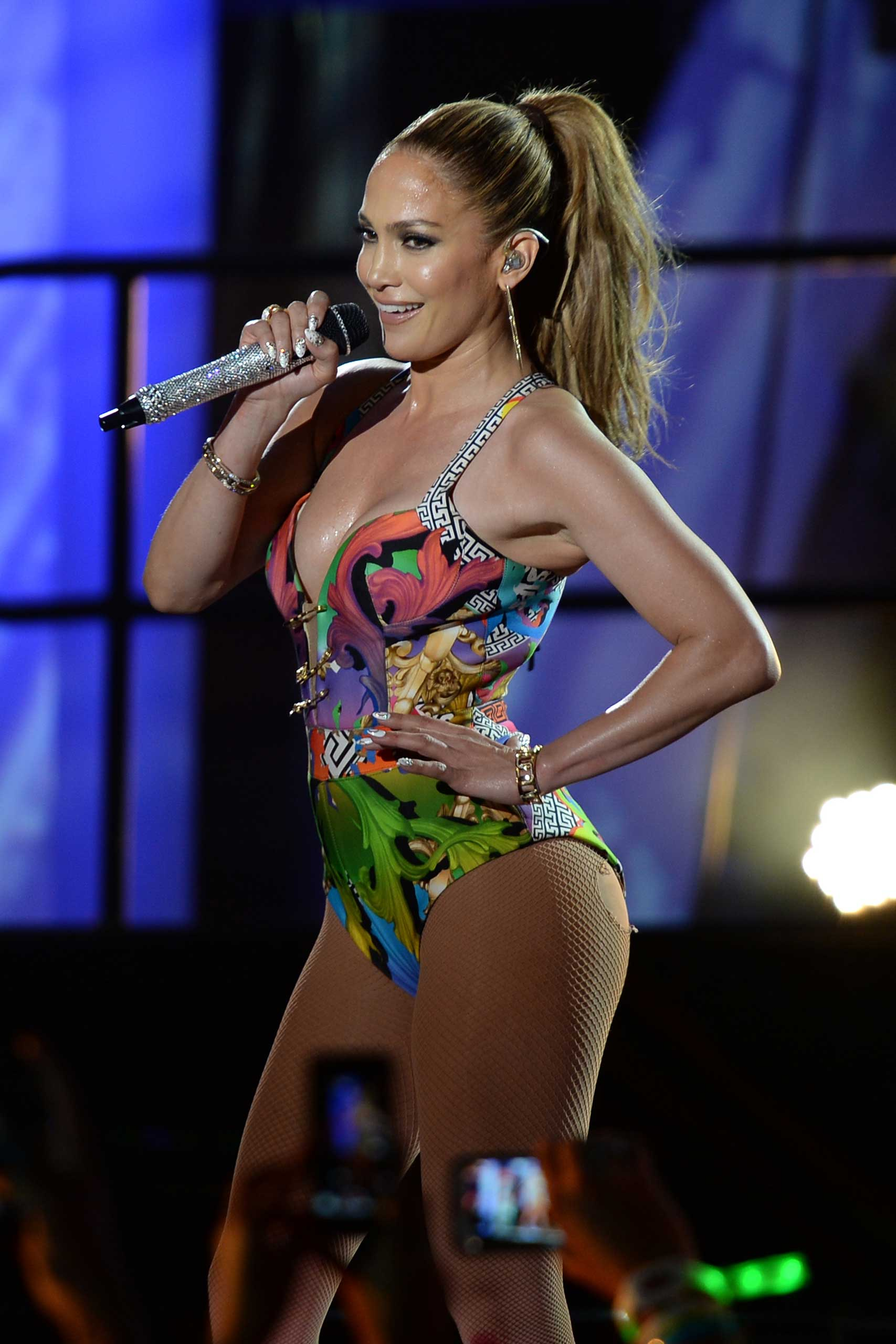 Jennifer Lopez performs in Miami Beach in 2014.