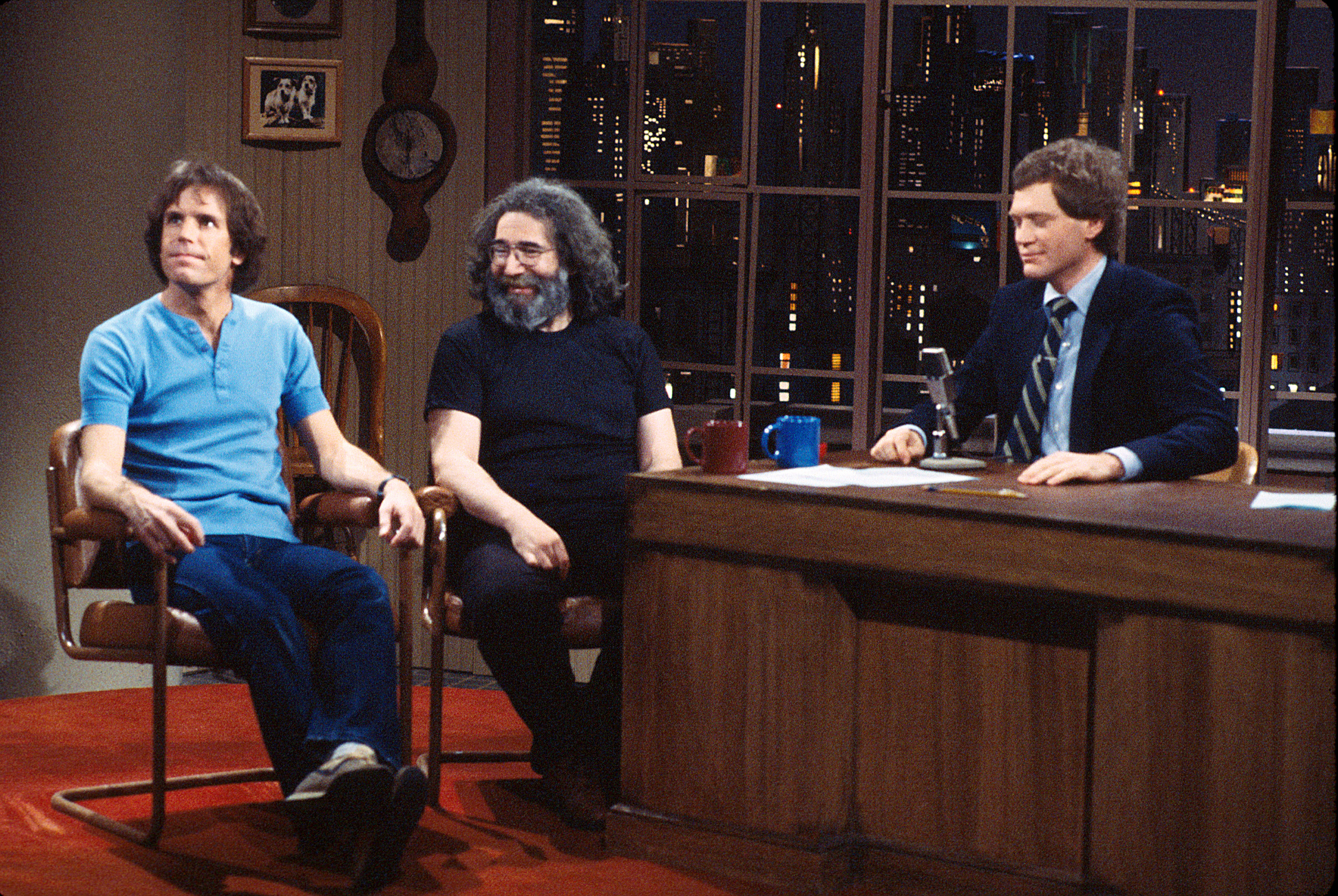 "<strong>In on the Joke</strong> During their 1982 appearance on David Letterman's show, Bob Weir and Garcia joked with the Late Night host about the '60s, the origin of the term Deadhead and the band's willingness to let its fans record concerts. ""The shows aren't the same ever,"" Garcia says, ""not even remotely, so when we're done with it, they can have it."""