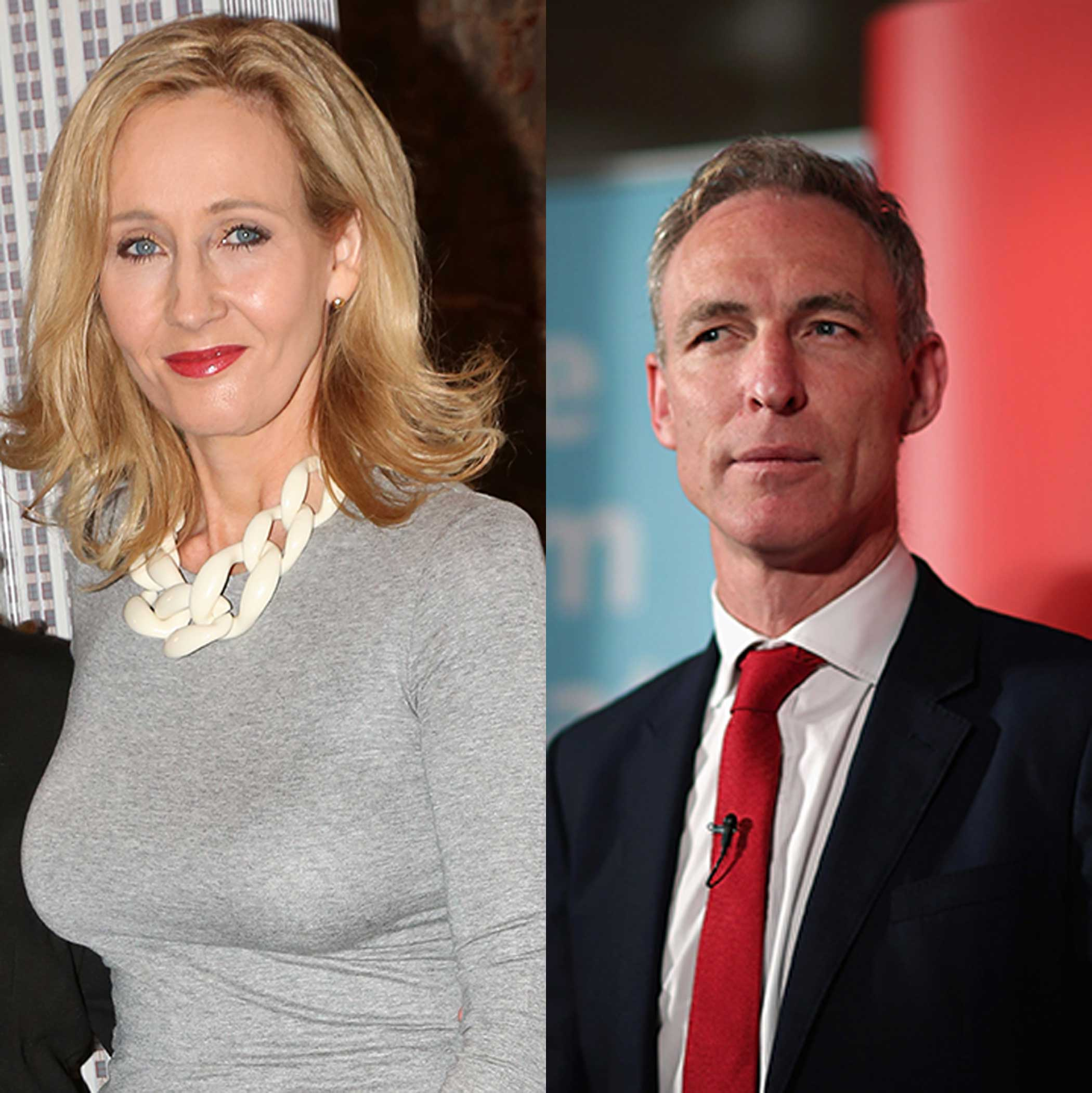 Author J.K. Rowling and Scottish Labour Leader Jim Murphy
