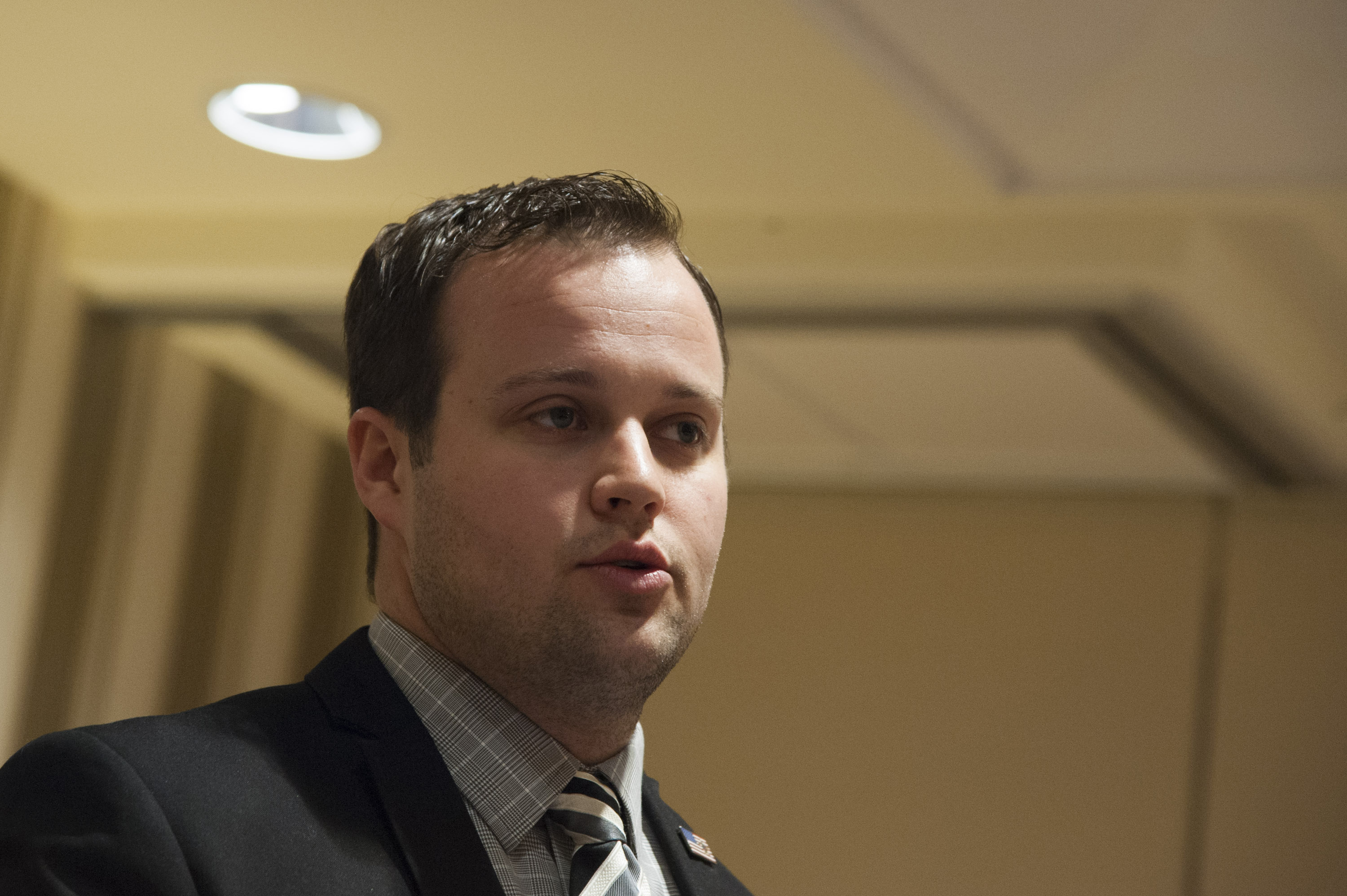 Josh Duggar speaks during the 42nd annual Conservative Political Action Conference (CPAC) at the Gaylord National Resort Hotel and Convention Center in National Harbor, Md., on Feb. 28, 2015.