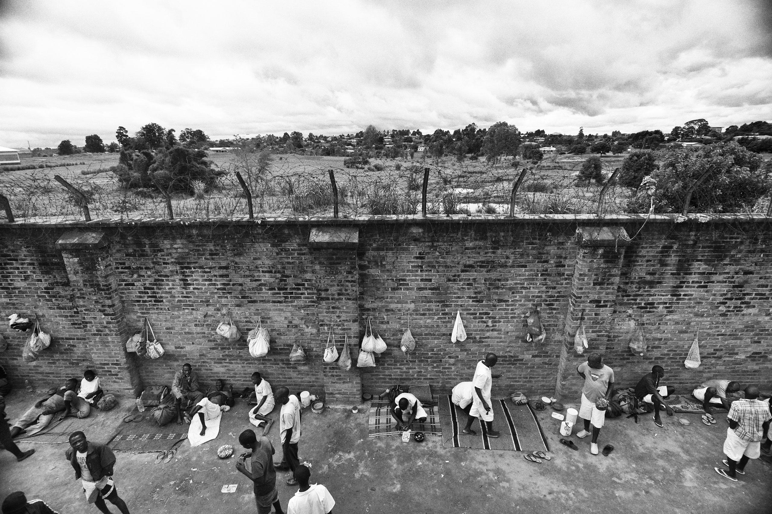 The courtyard of the juvenile prison in Mzuzu, Malawi.
