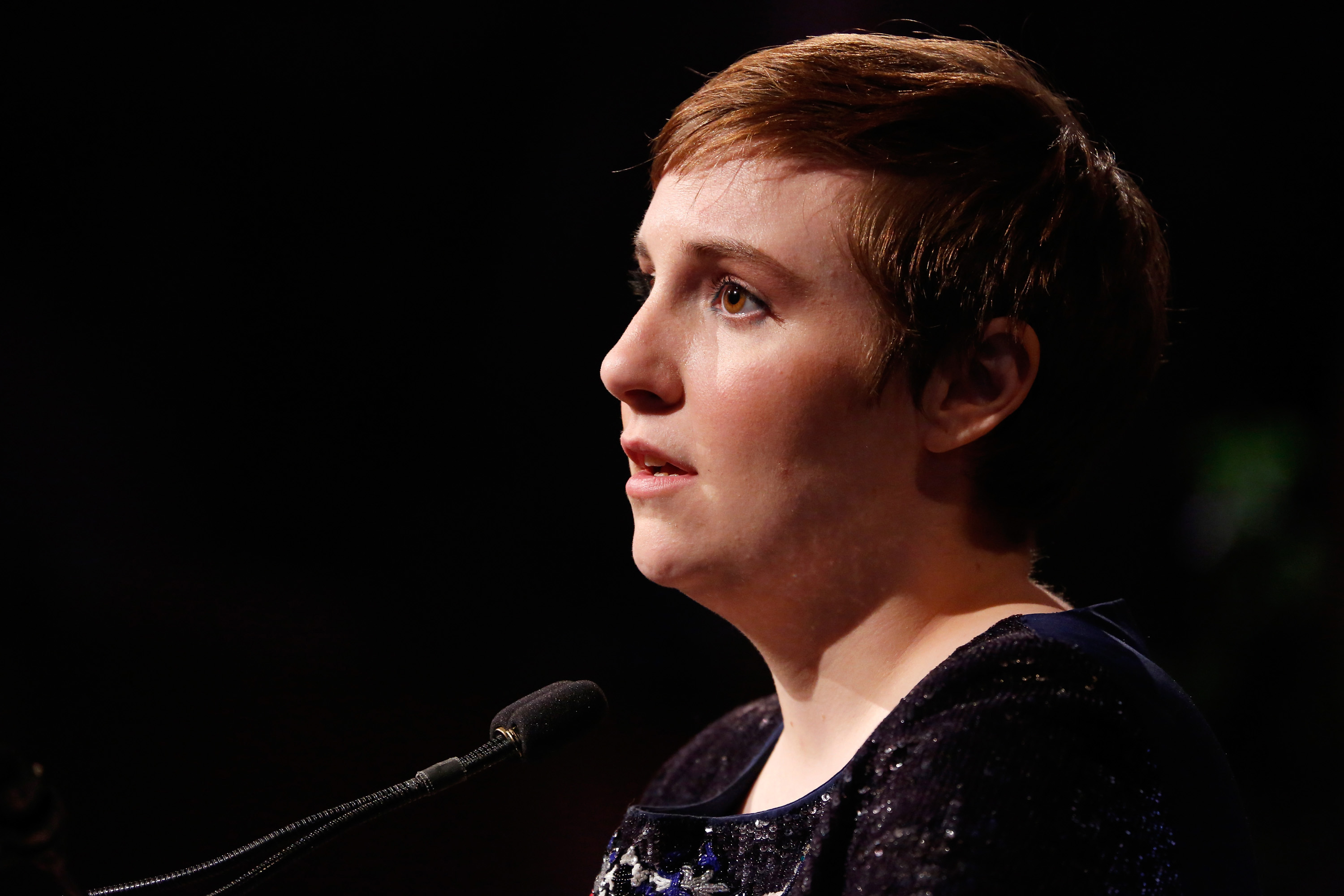 Honoree Lena Dunham speaks onstage at Variety's Power of Women: New York presented by Lifetime at Cipriani 42nd Street on April 24, 2015 in New York City.