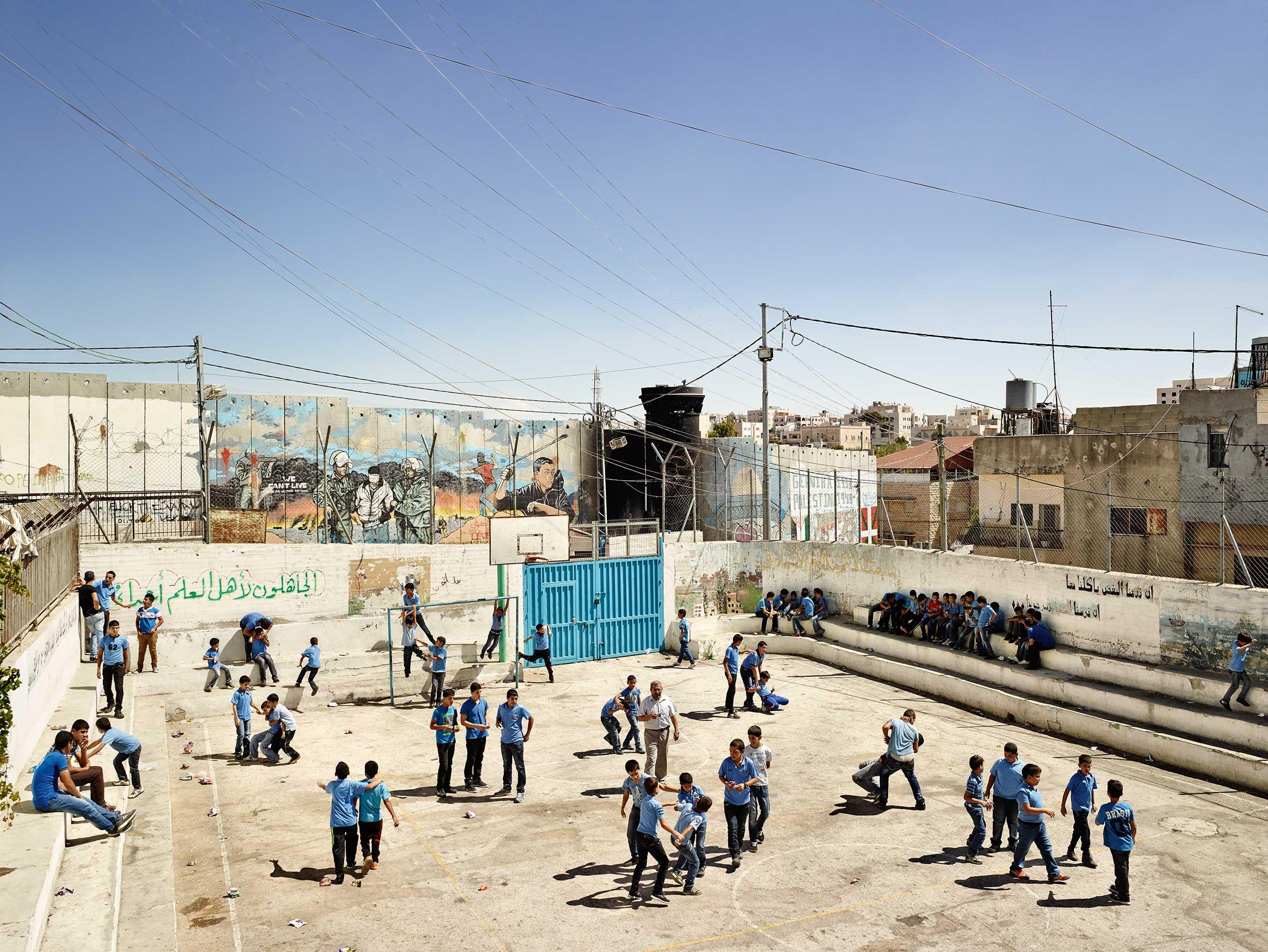 Wired: Playground                               Aida Boys School, Bethlehem, West Bank.