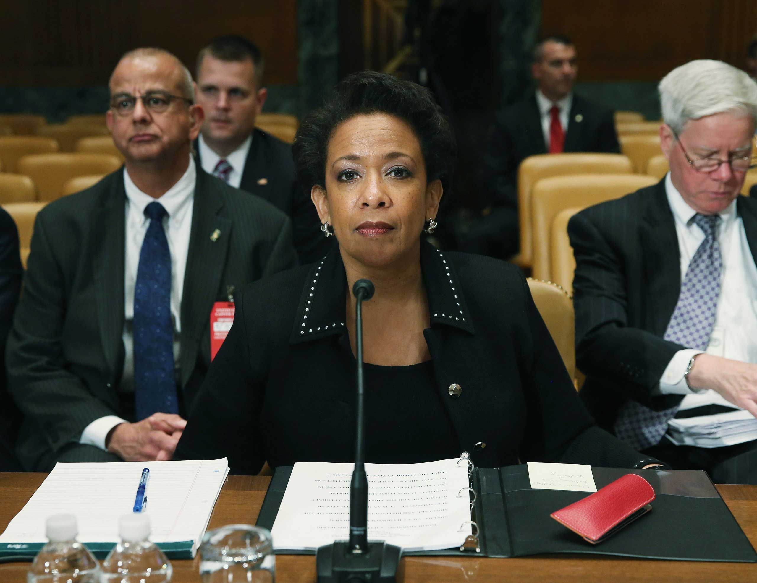 U.S. Attorney General Loretta Lynch appears before the Senate Appropriations Committee on Capitol Hill in Washington on May 7, 2015.