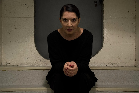 Serbian-born performance artist Marina Abramovic poses during an interview with AFP in Sao Paulo, Brazil on April 8, 2015.