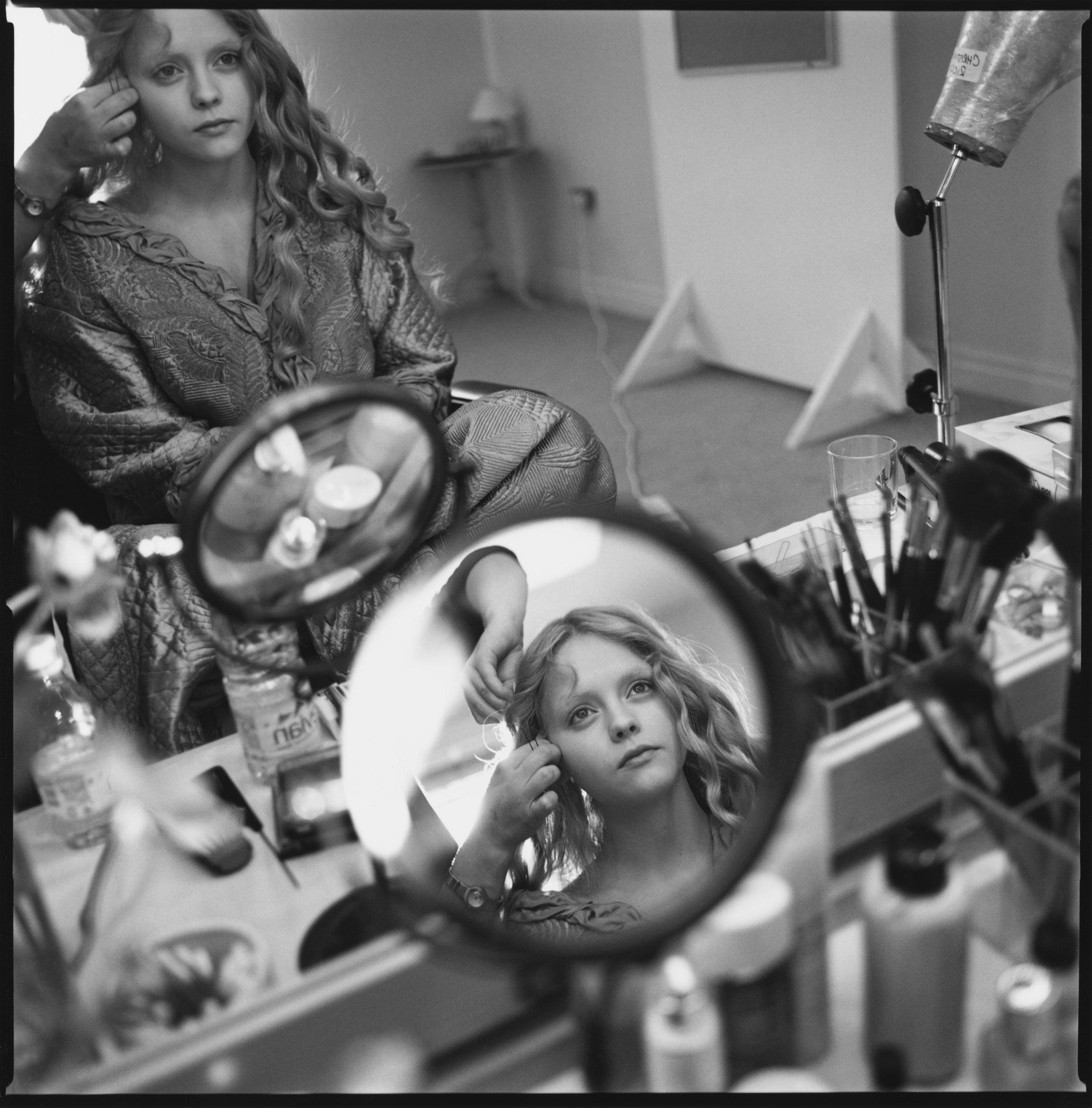Christina Ricci in her dressing room for Sleepy Hollow. Shepperton Studios, England, 1999.